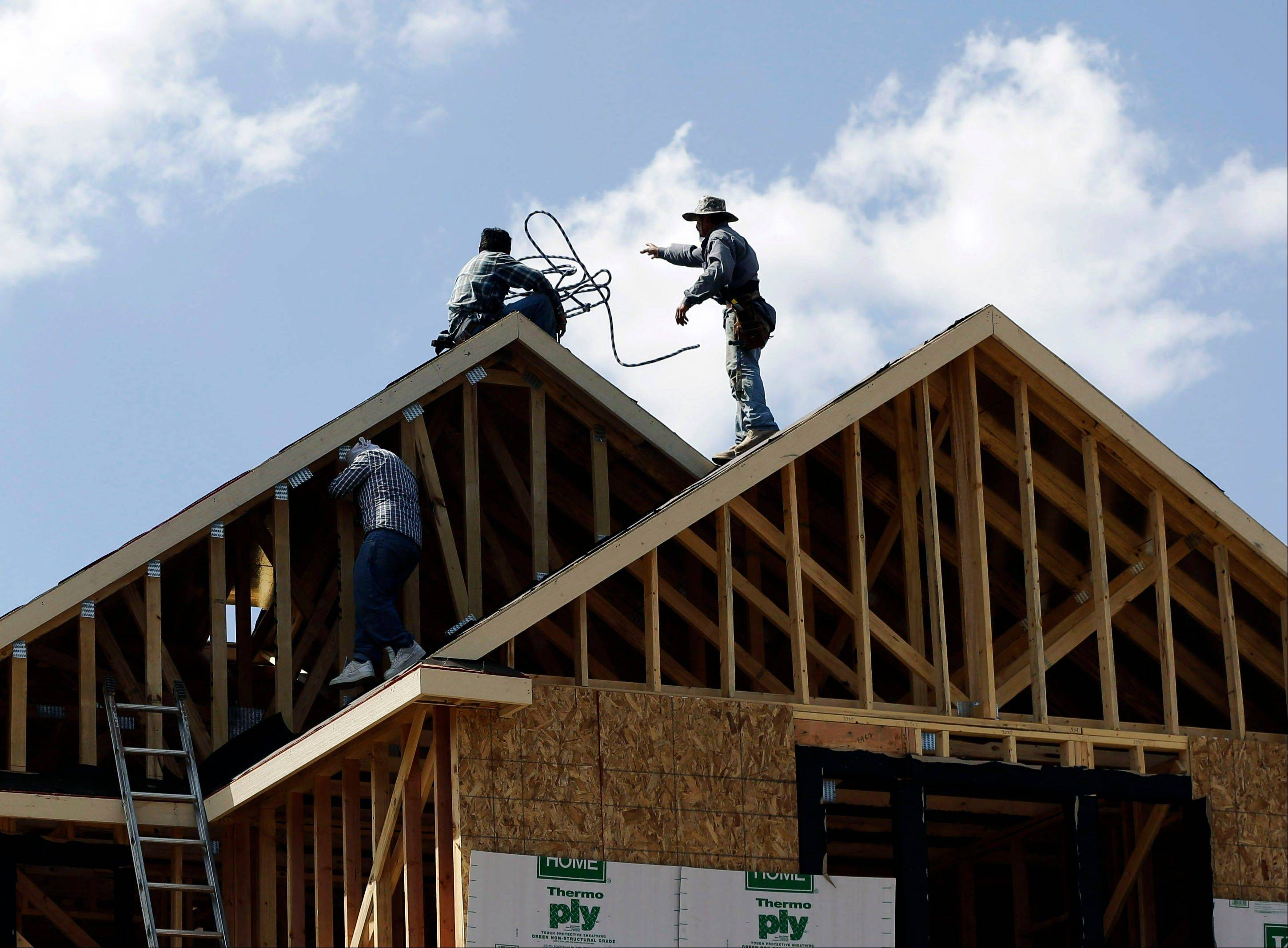 Confidence among U.S. homebuilders fell this month because of concerns that increased demand for new homes is exceeding supplies of ready-to-build land, building materials and workers.