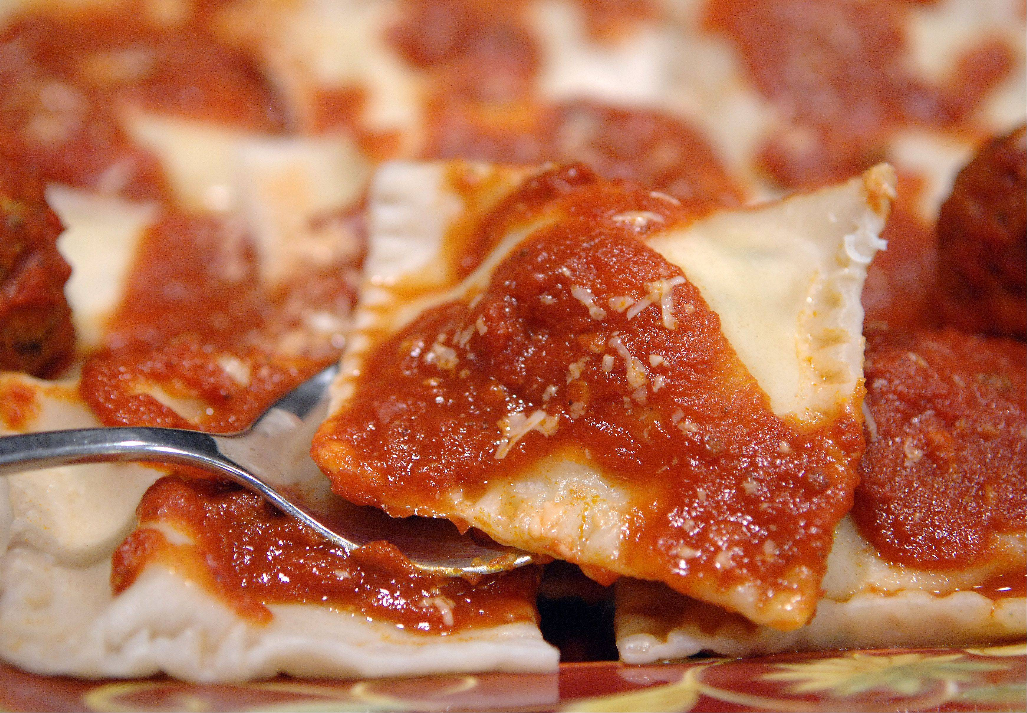 Judy Annis makes homemade cheese-filled ravioli for Christmas dinner and extra to freeze and enjoy into the new year.