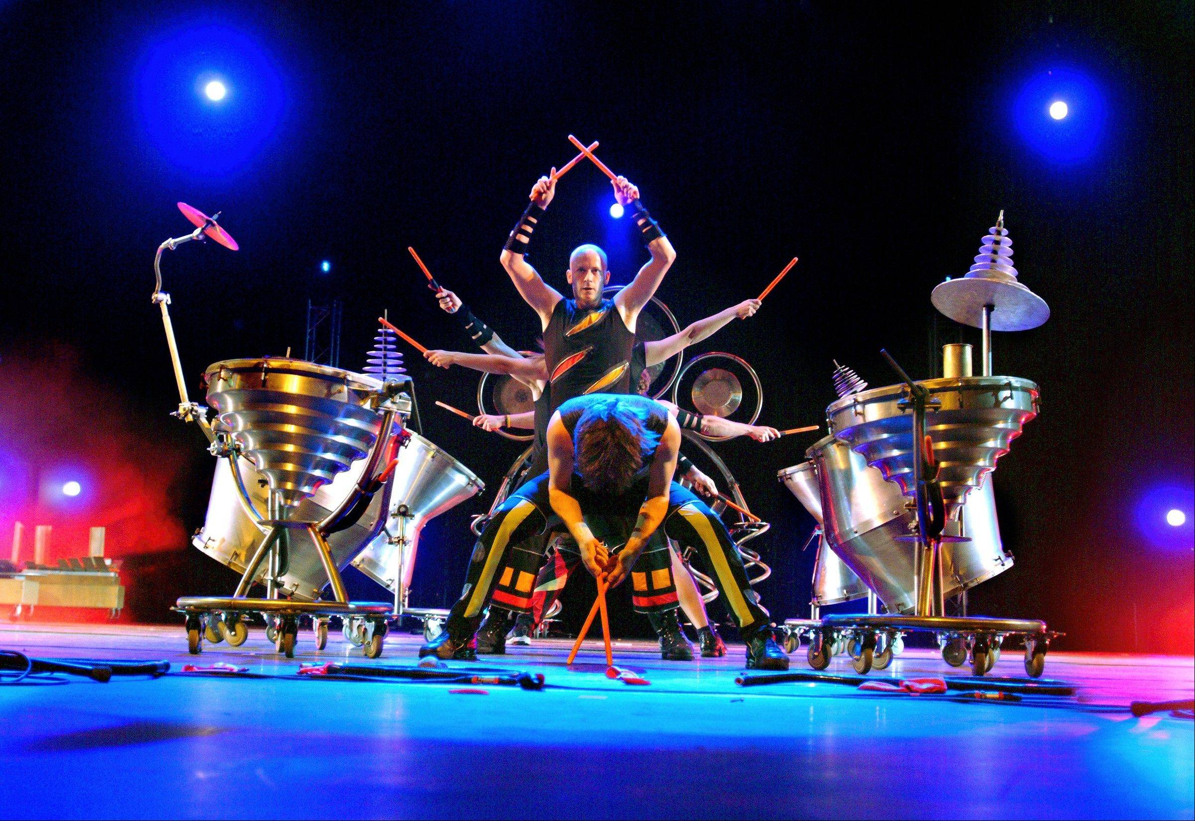 College of DuPage's McAninch Arts Center presents Canadian-based ScrapArts Music and their high-energy percussion and dance show at Ramsey Auditorium in Fermilab's Wilson Hall in Batavia on Saturday, March 23.