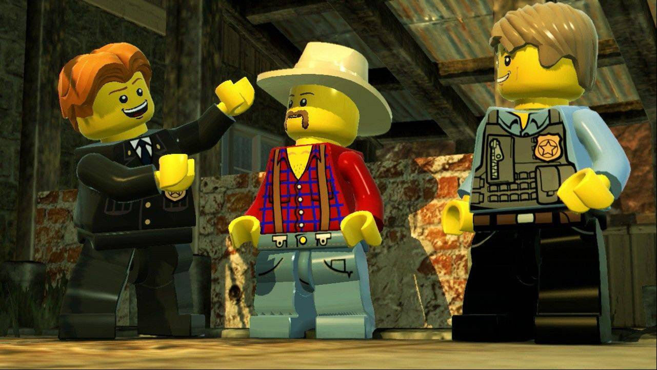 "Undercover officer Chase McCain pretends he's a farmer at one point in ""Lego City Undercover."""