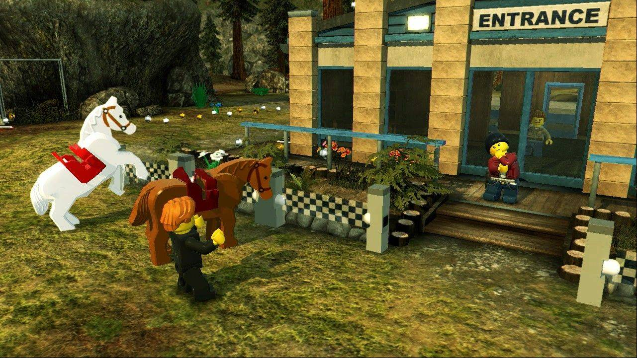 "In ""Lego City Undercover,"" there are millions of studs spread across the world that can be traded in for customizable characters and vehicles."