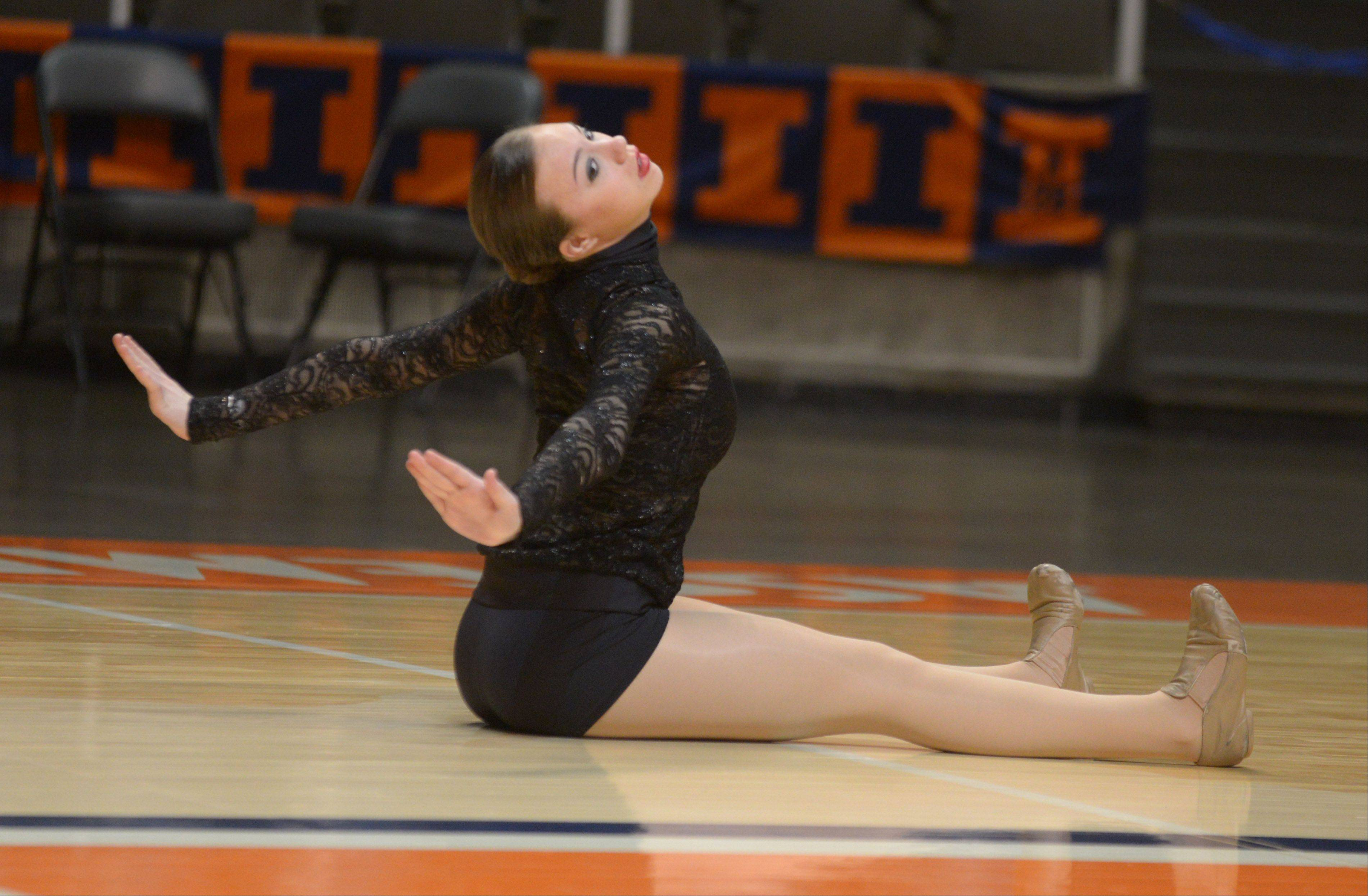 Megan Clifford of St. Viator competes in the solo rounds.