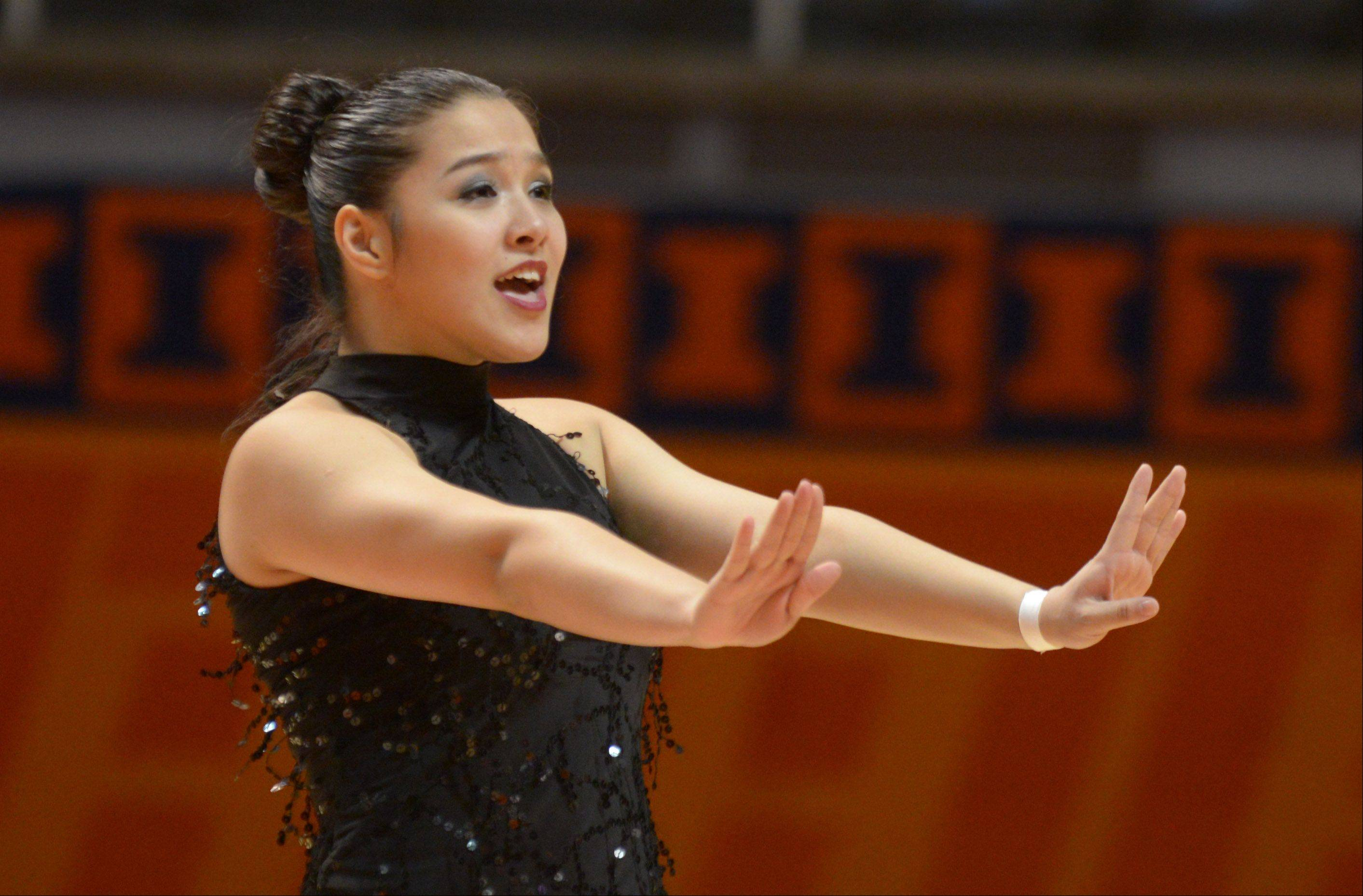 Palisha Ranjit of Maine East competes in the solo rounds at the University of Illinois Assembly Hall.