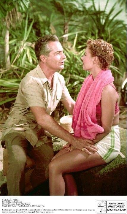 "Rossano Brazzi and Mitzi Gaynor sing a duet in the 1958 movie ""South Pacific,"" based on the Rodgers and Hammerstein musical."