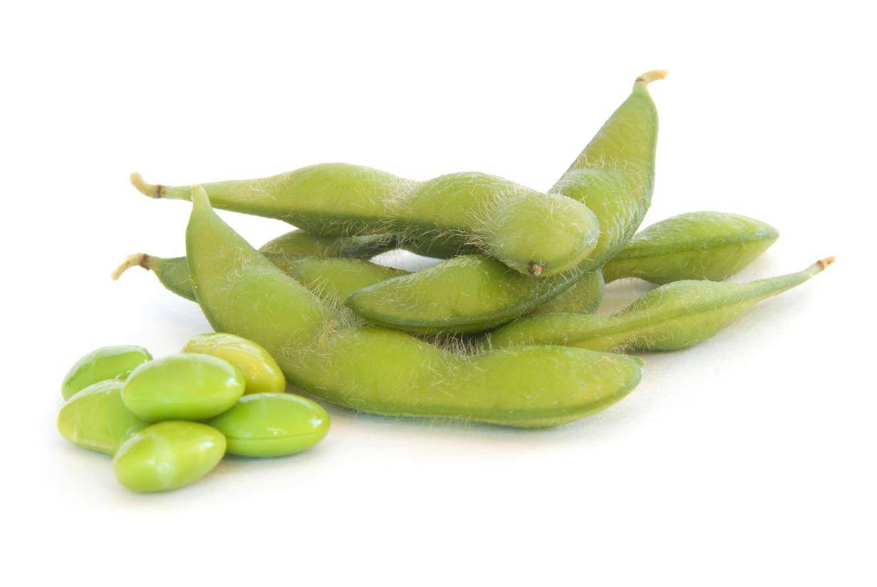 Fresh, green soybeans, aka edamame, are full of fiber, phytochemicals and protein.