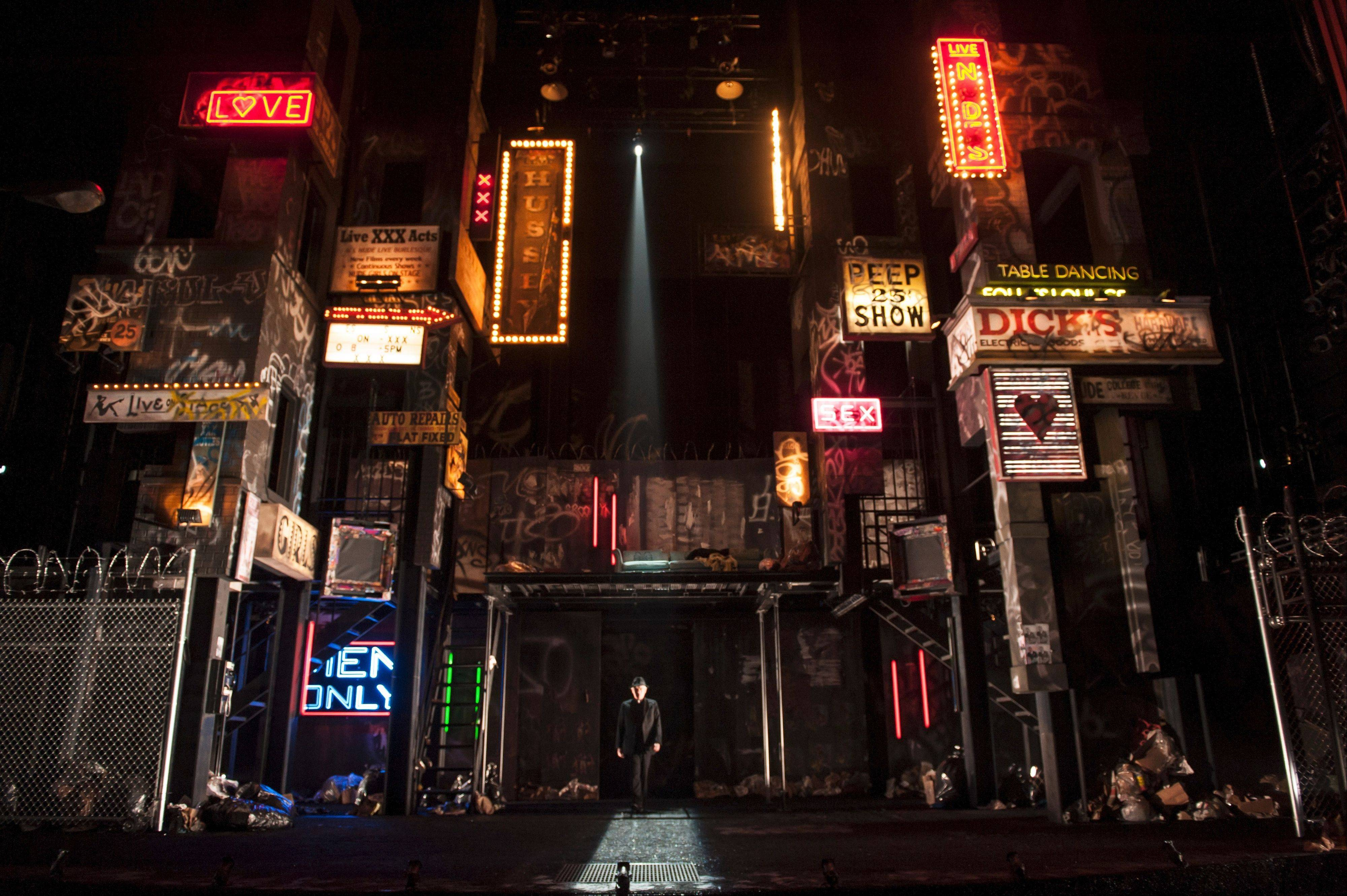 "The Duke (James Newcomb) goes incognito as a priest amid the moral urban decay in Robert Falls' 1970s New York-inspired take on Shakespeare's ""Measure for Measure"" at the Goodman Theatre in Chicago."