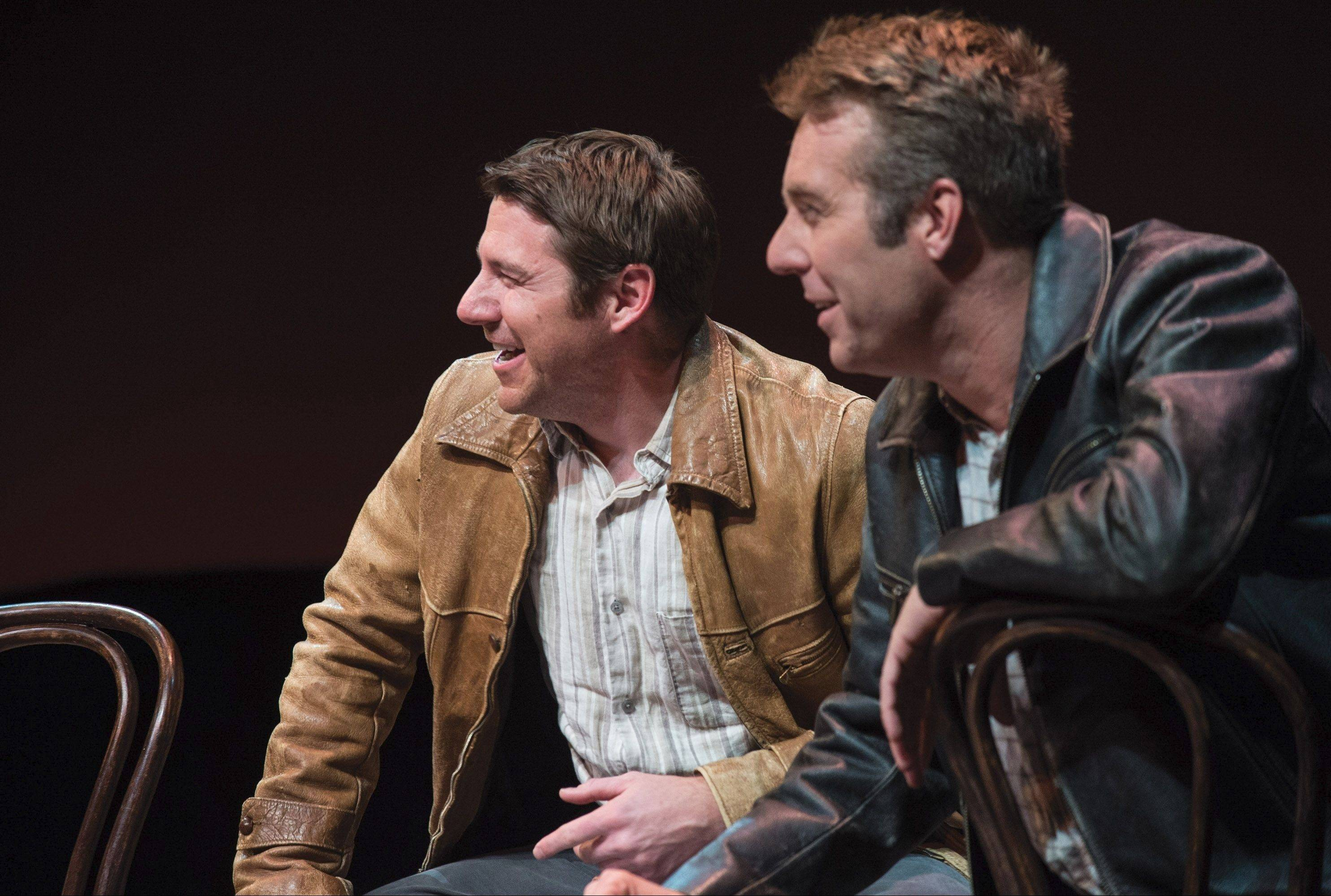"Brian Vaughn and David Ivers, co-artistic directors of the Utah Shakespearean Festival, perform all the multiple roles in the Irish comedy ""Stones in His Pockets"" for Northlight Theatre in Skokie."