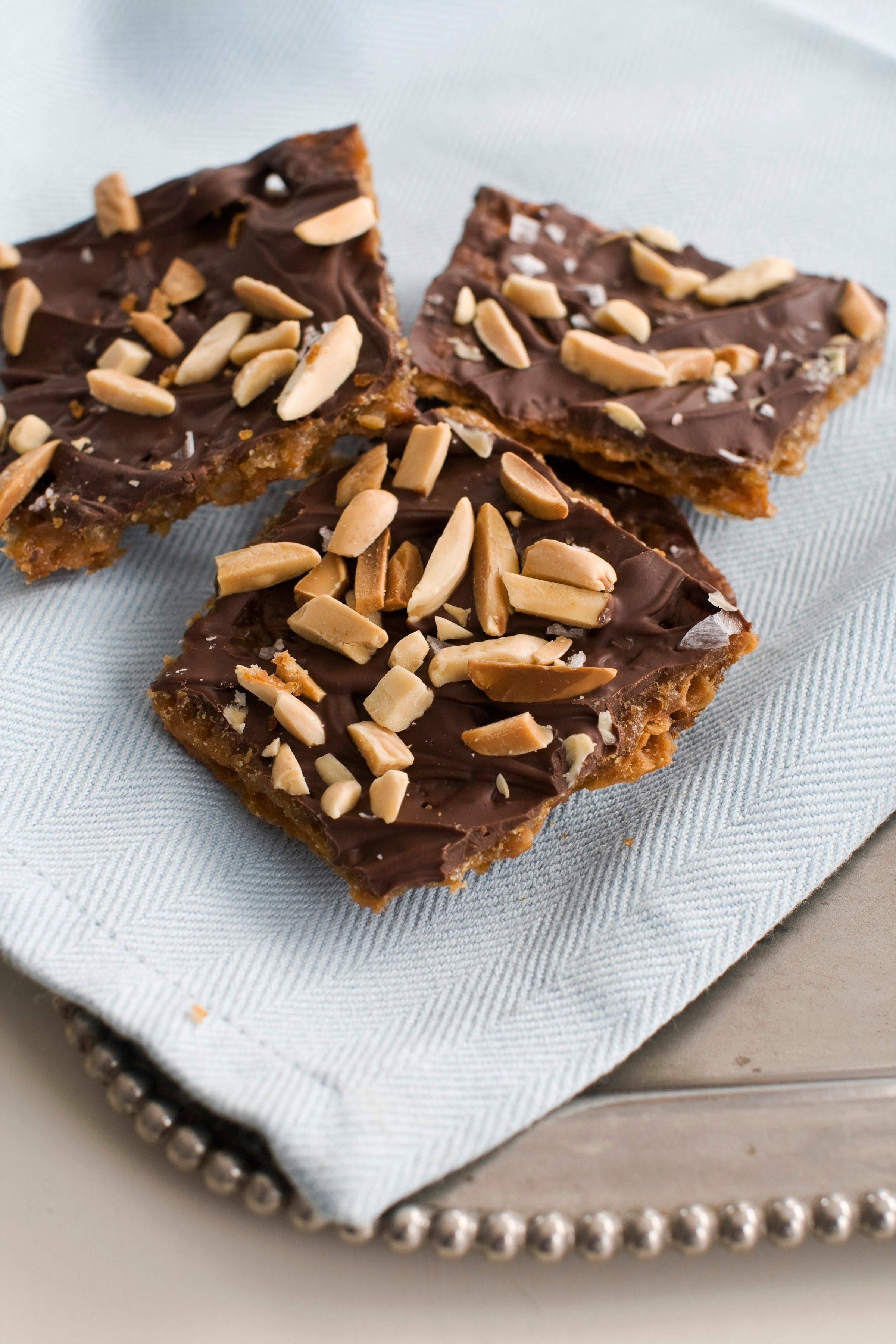 Plain matzo bread morphs into sweet Matzo Toffee Bar Crunch.
