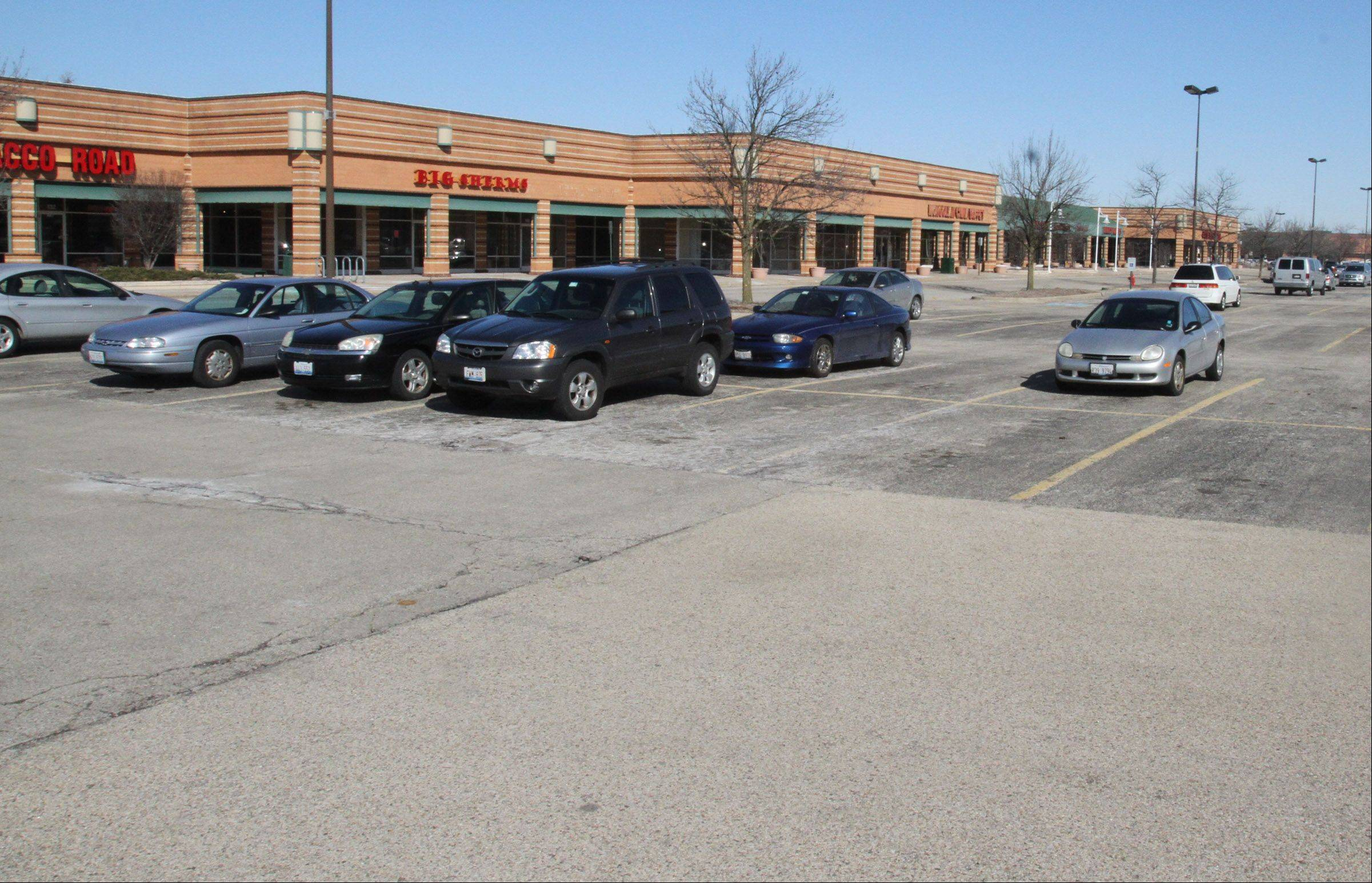 This is the Buffalo Grove Town Center at Lake-Cook Road and McHenry Road in Buffalo Grove.
