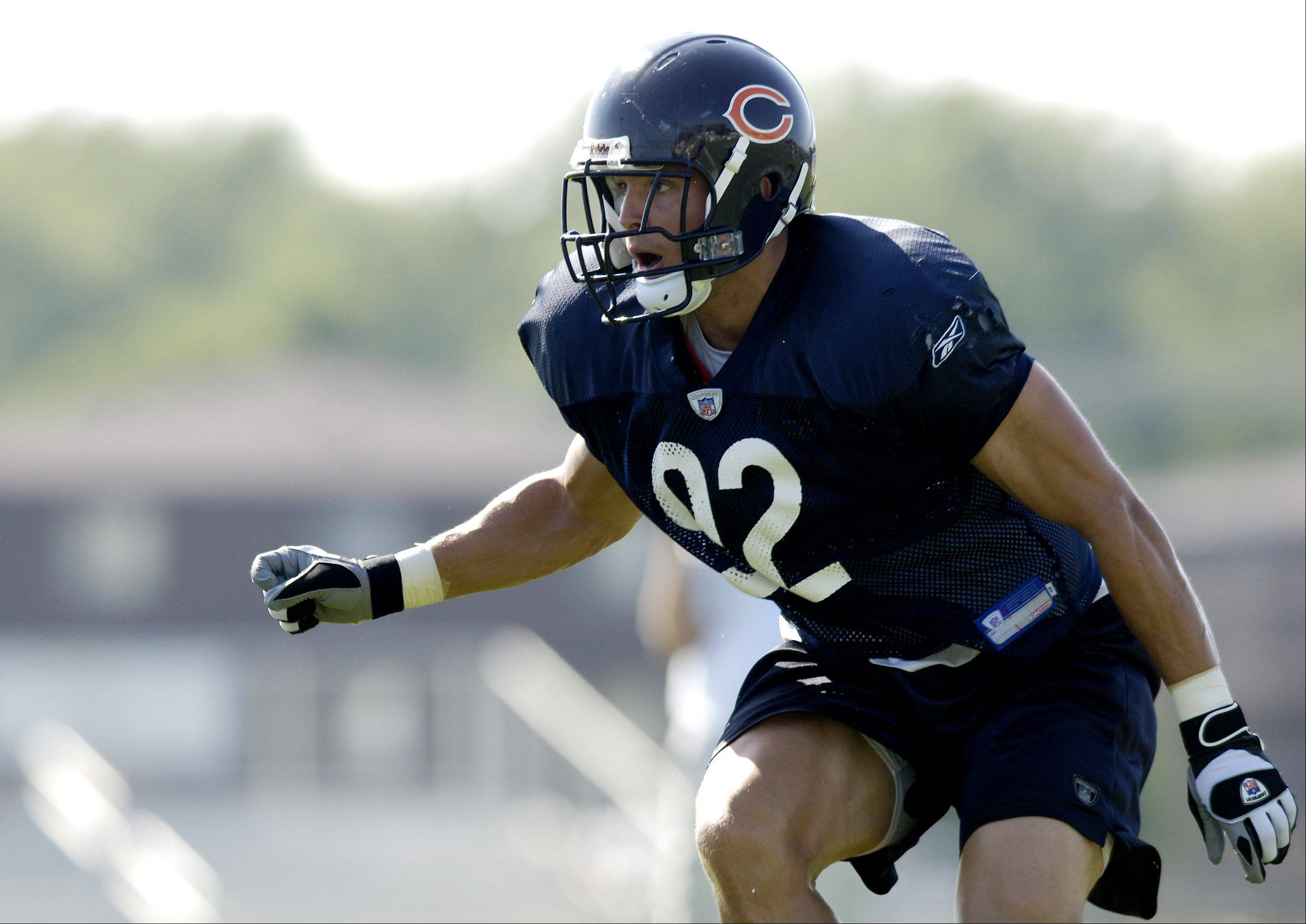 Chicago Bears linebacker Hunter Hillenmeyer wrote lawmakers a letter this week asking them to limit tackling. Hillenmeyer's career ended after a third concussion.