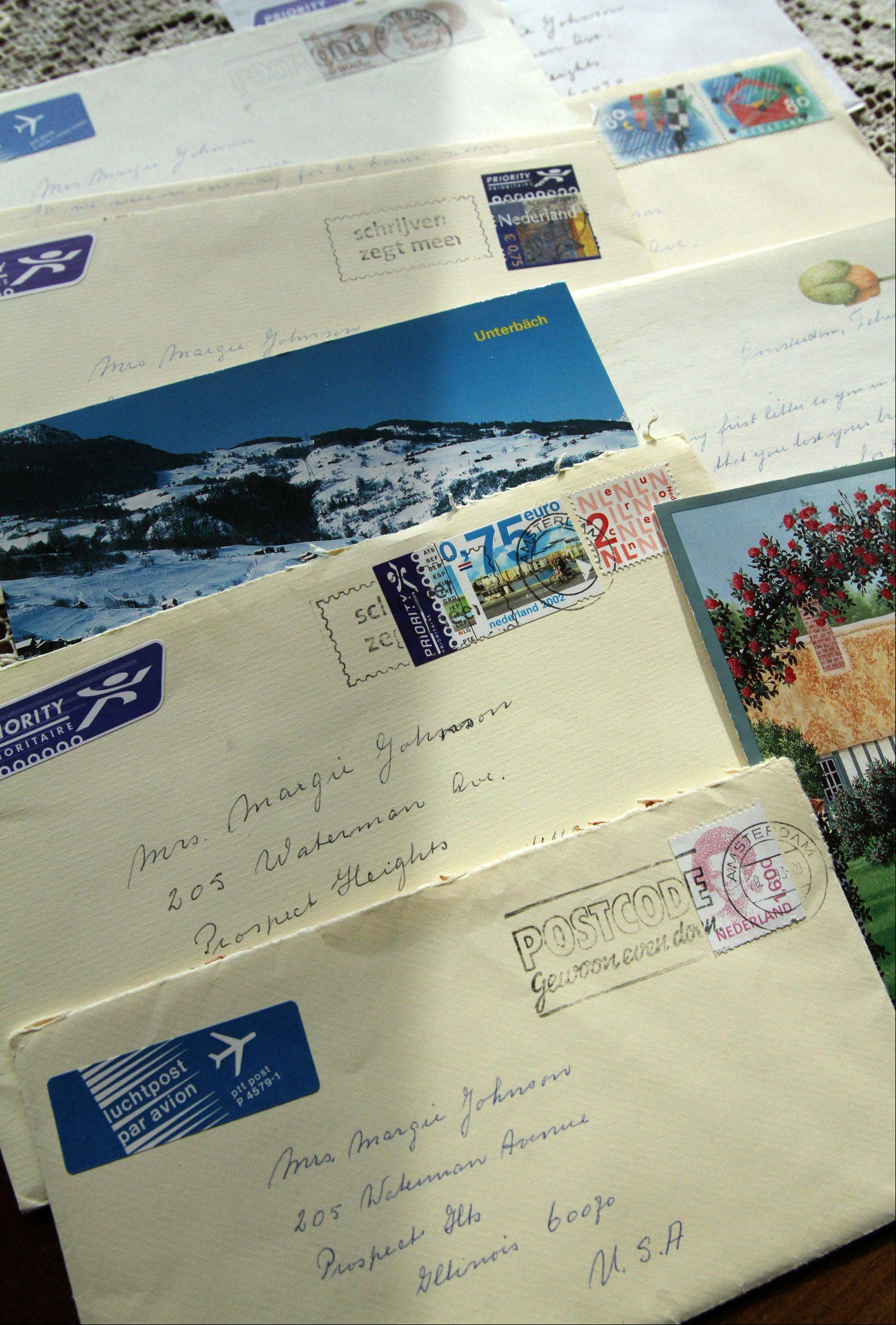 Marge Johnson of Prospect Heights has been corresponding with a pen pal in Holland since 1938.