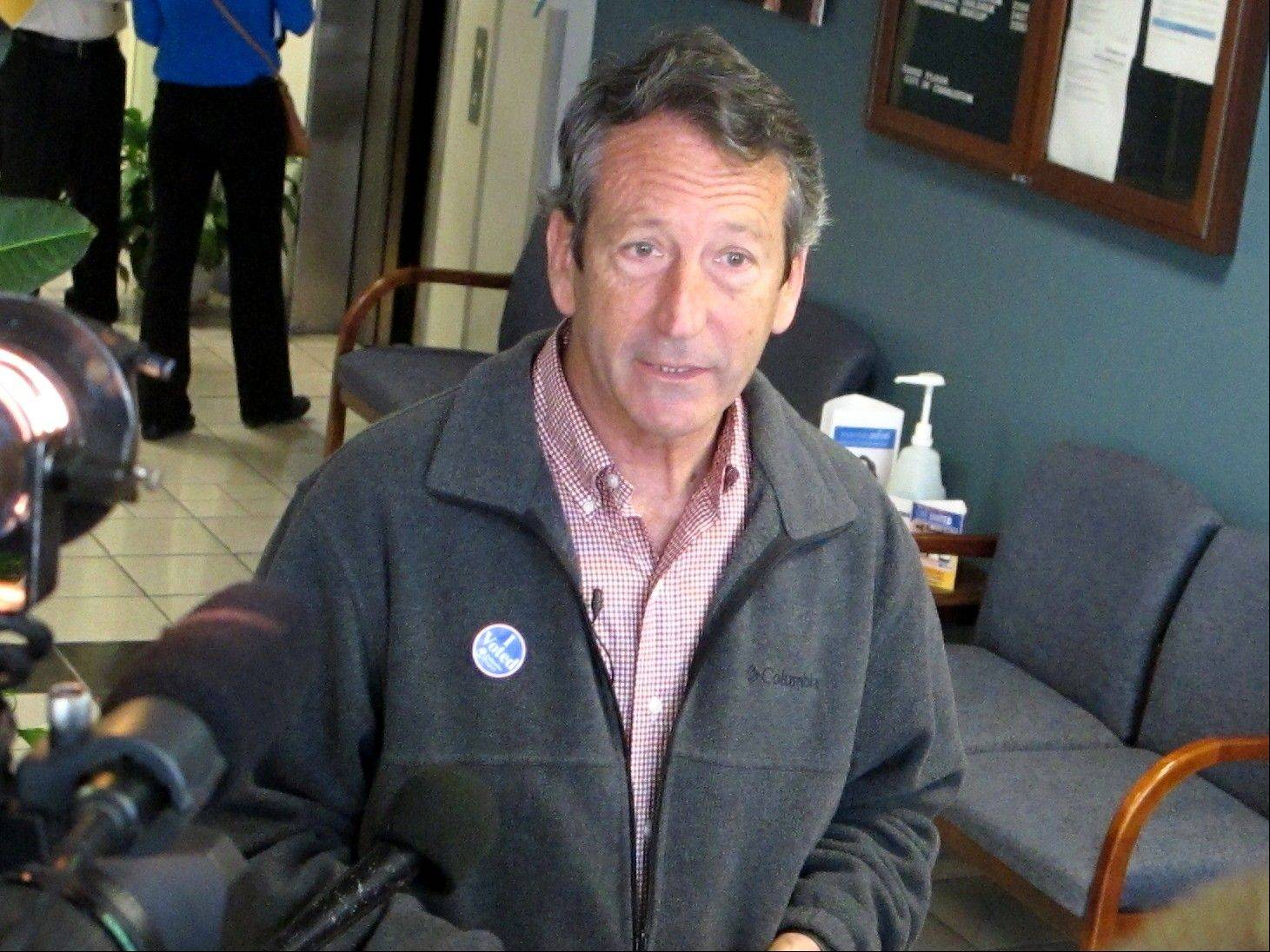 Former South Carolina Gov. Mark Sanford advanced Tuesday night to an April 2 GOP runoff for an open congressional seat in South Carolina's vacant 1st District.