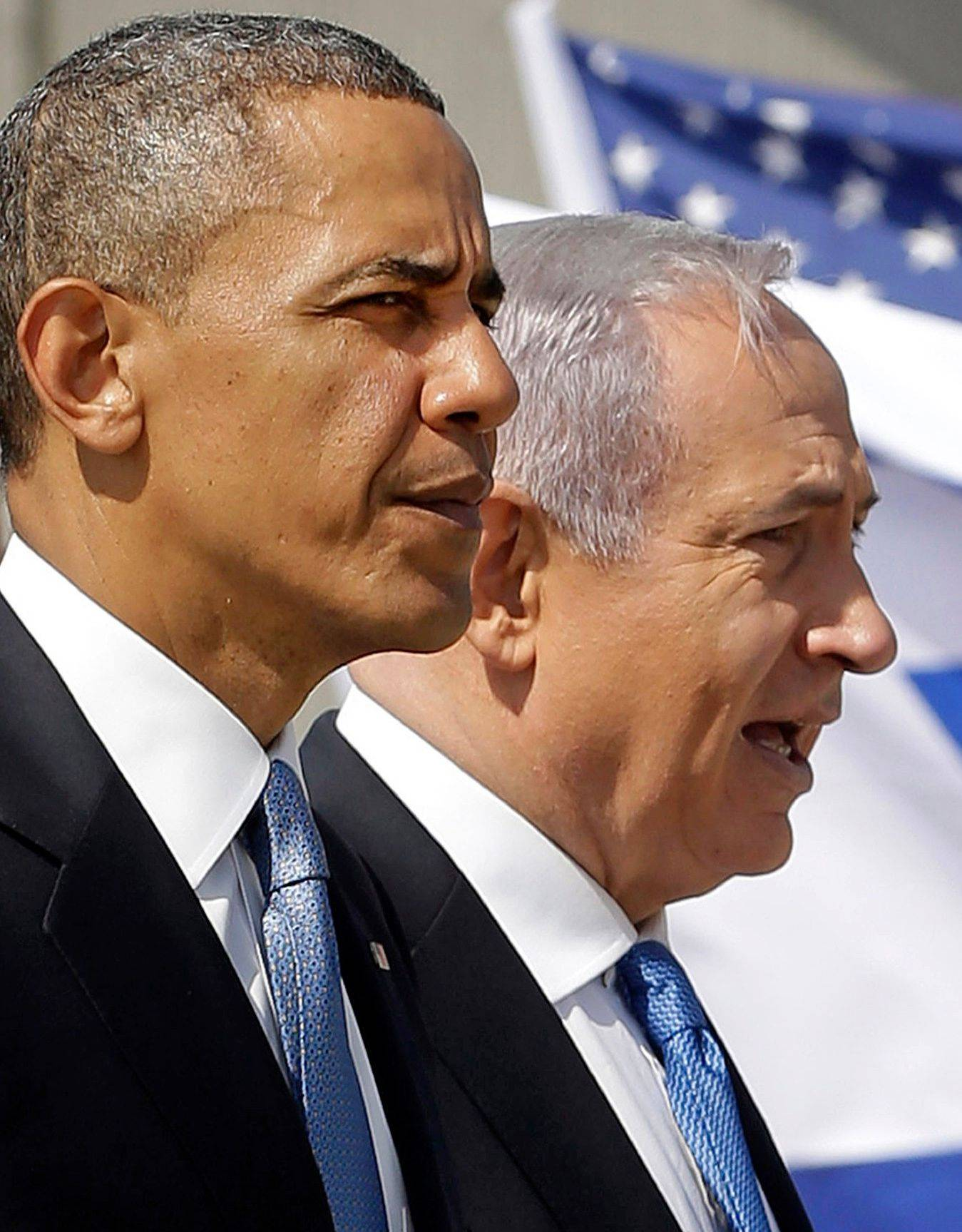 President Barack Obama and Israeli Prime Minister Benjamin Netanyahu tour the Iron Dome Battery defense system at Ben Gurion International Airport in Tel Aviv Wednesday.