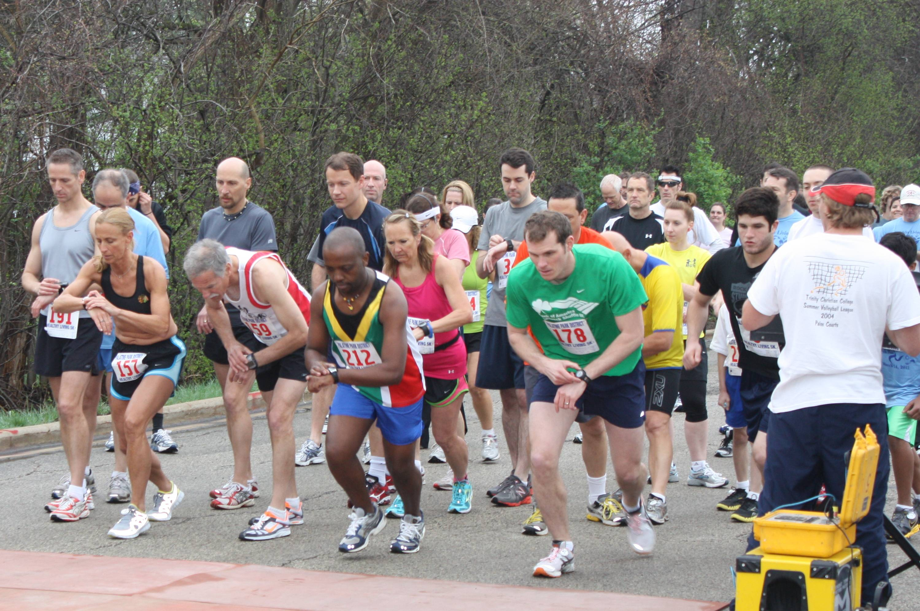 Runners at the start in 2012.