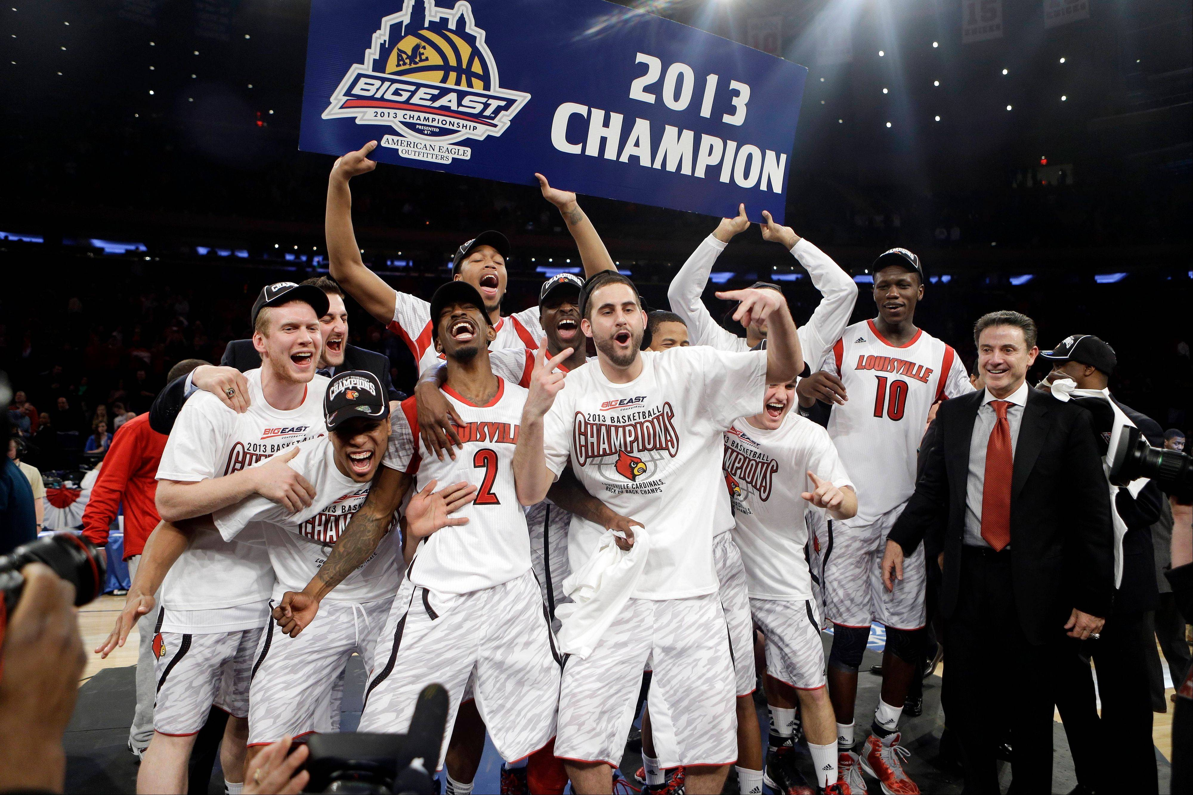 Louisville, which won the Big East earlier in the month, is the top seed in the NCAA men's tournament.