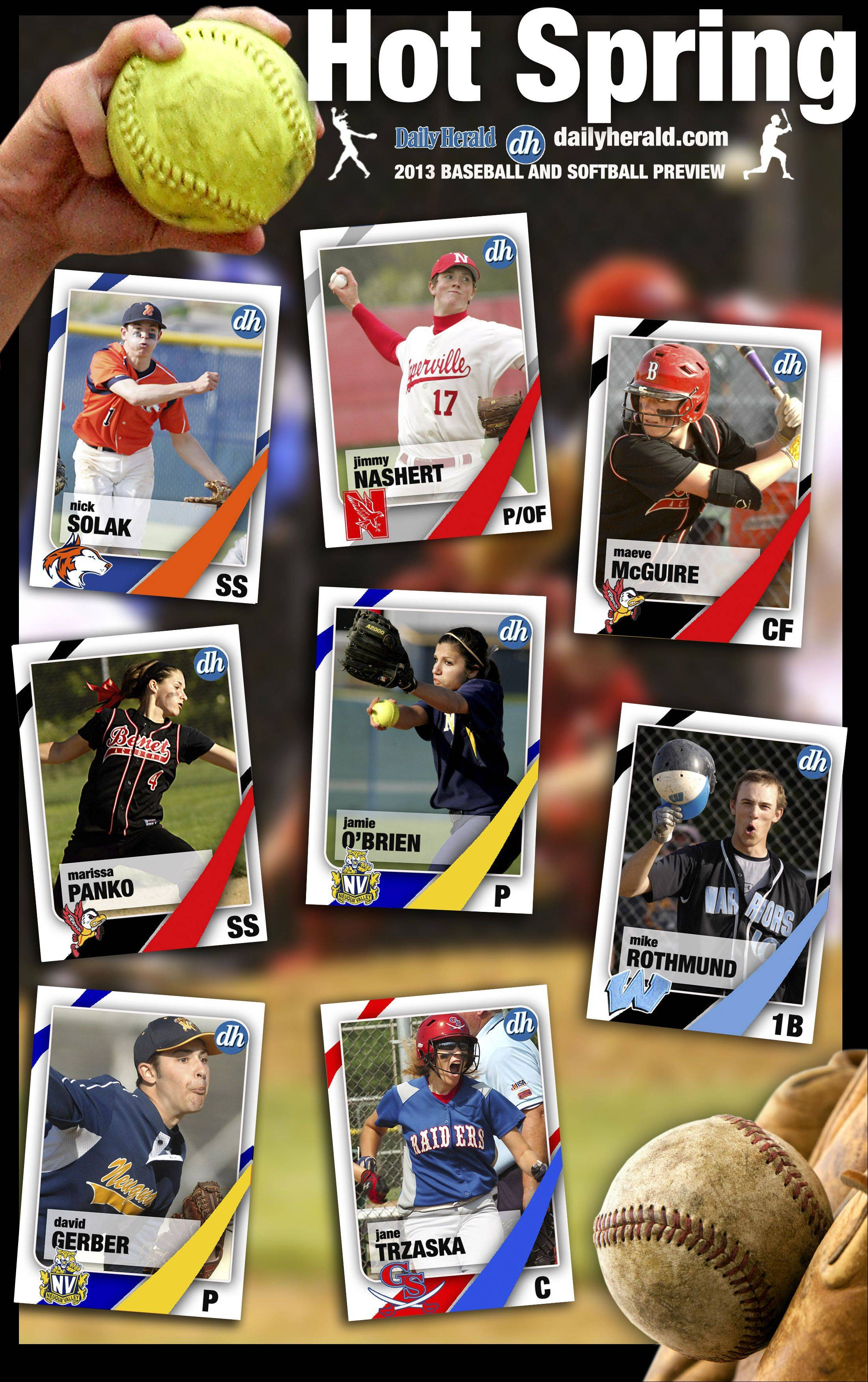 Images: Softball and Baseball Prep Trading Cards