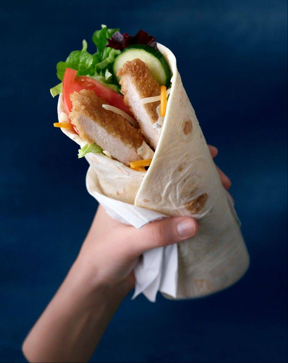 McDonald's new chicken McWrap sandwich wrap. The world's biggest hamburger chain says the new sandwich wrap will come in three varieties � Chicken & Bacon, Sweet Chili Chicken and Chicken & Ranch.