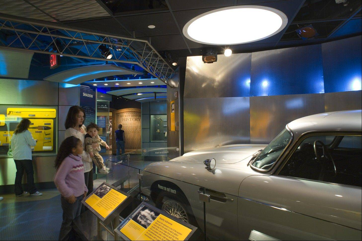 School For Spies Gallery shows the Bond car at the International Spy Museum in Washington, D.C.