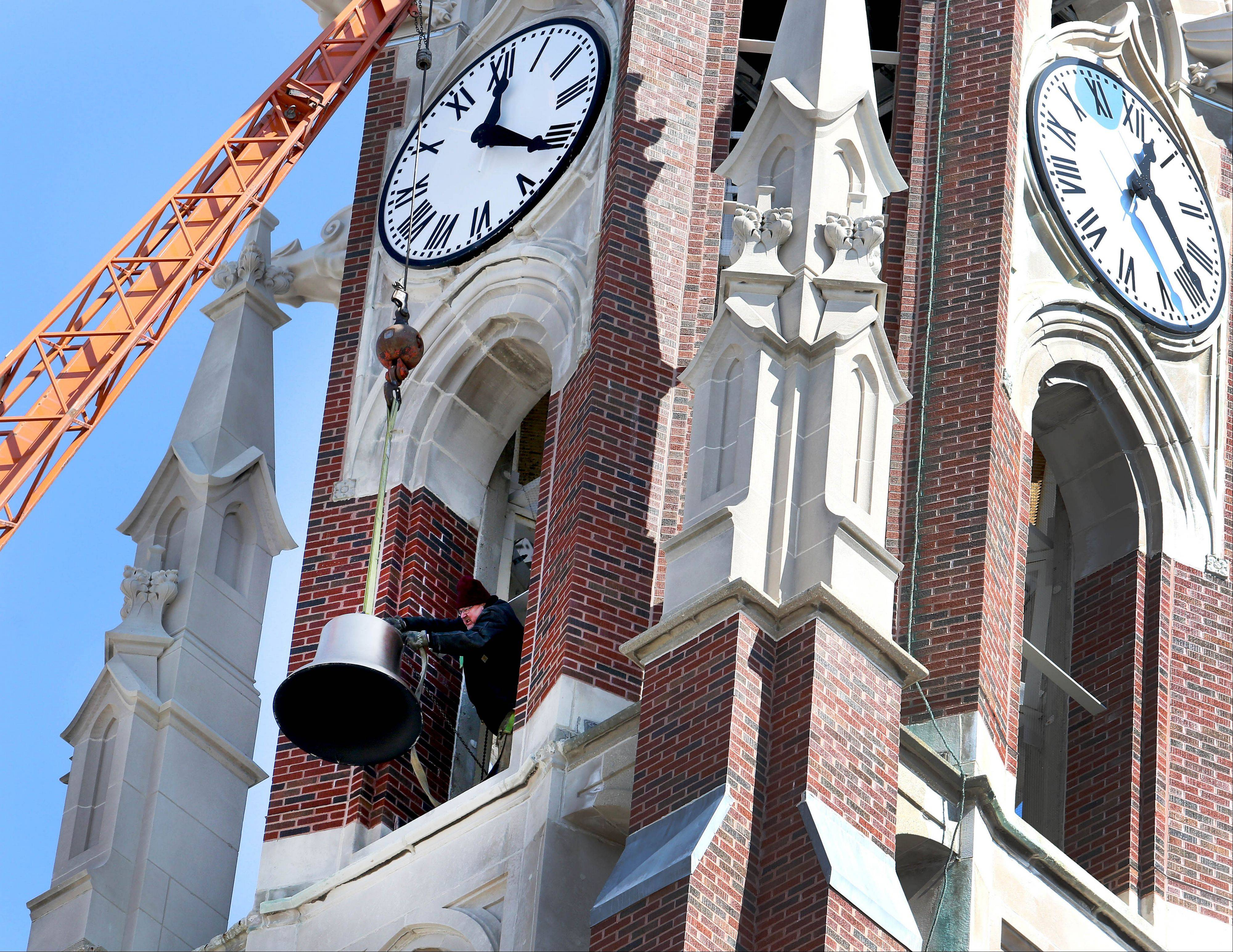For the first time in 37 years, all of the bells at Naperville's Ss. Peter and Paul Catholic Church will ring over Easter weekend.