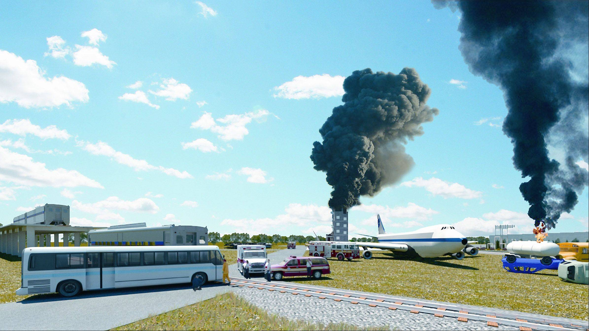 The College of DuPage is in the planning stages for a $50 million to $75 million Midwest Regional Training Center for first responders that would include railroad tracks, a burn tower, an airplane fuselage and hazardous materials tanks.