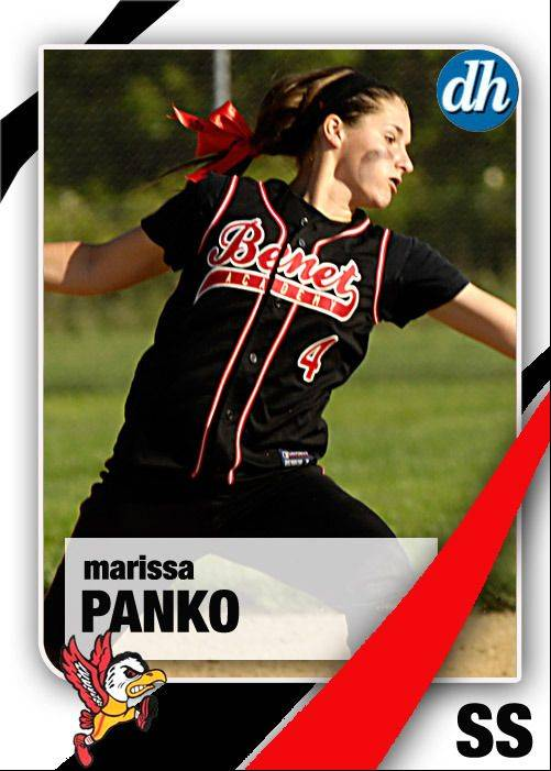 Images of the Daily Herald 2013 virtual trading cards. Marissa Panko of Benet Academy.