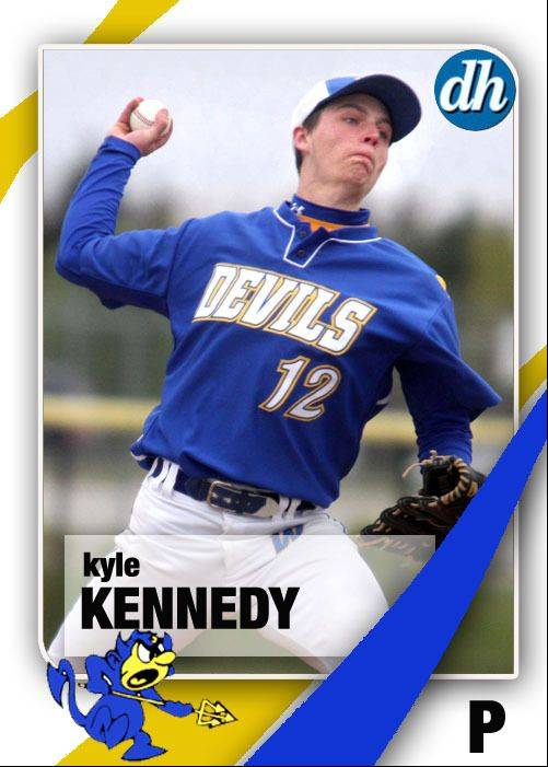 Images of the Daily Herald 2013 virtual trading cards. Kyle Kennedy of Warren.