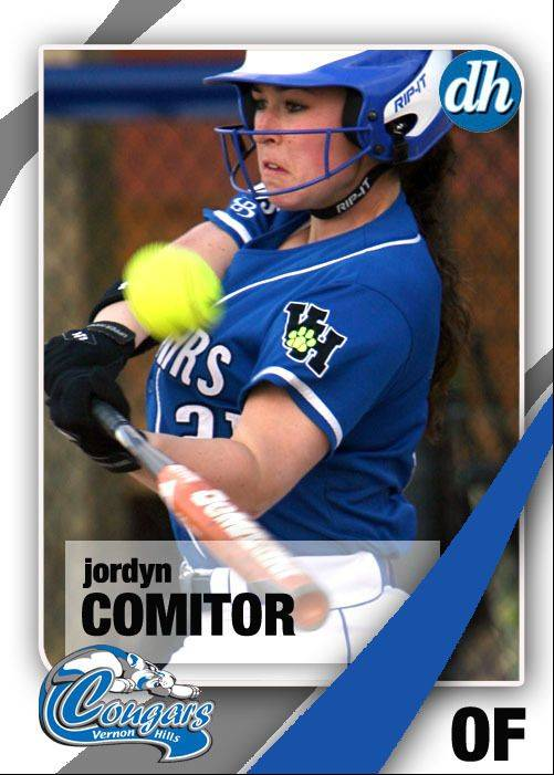 Images of the Daily Herald 2013 virtual trading cards. Jordyn Comitor of Vernon Hills.