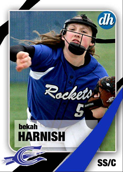 Images of the Daily Herald 2013 virtual trading cards. Bekah Harnish of Burlington Central.