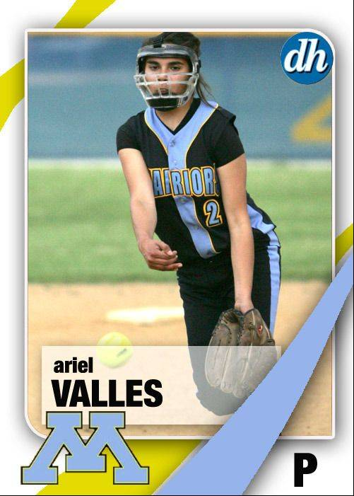 Images of the Daily Herald 2013 virtual trading cards. Ariel Valles of Maine West.
