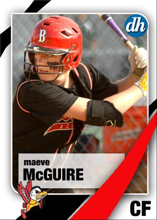 Images of the Daily Herald 2013 virtual trading cards. Maeve McGuire of Benet Academy.