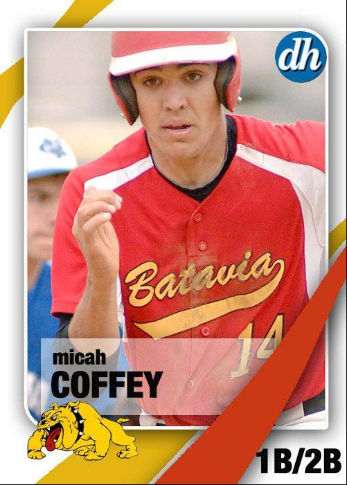 Images of the Daily Herald 2013 virtual trading cards. Micah Coffey of Batavia.