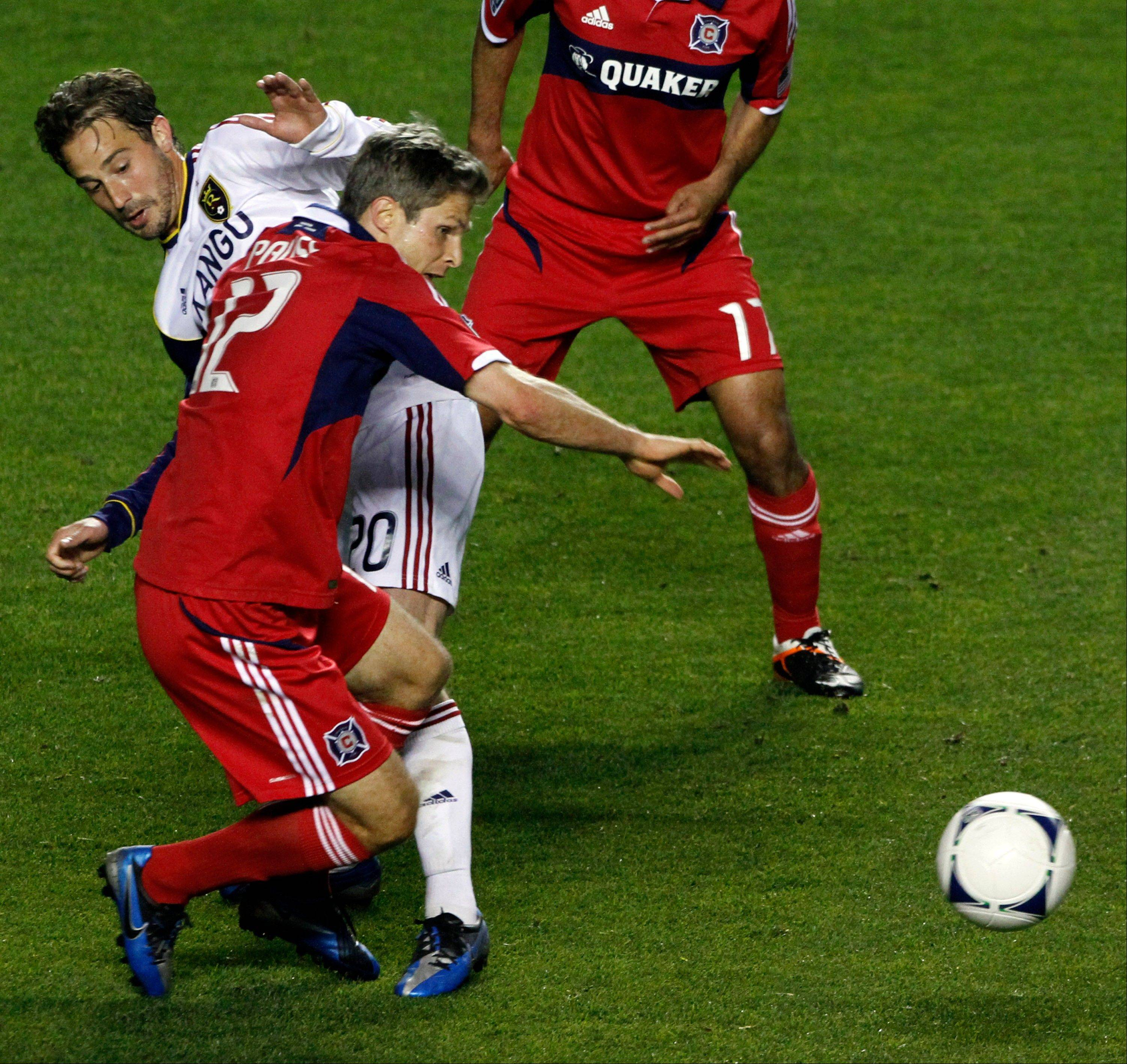 The Fire's Logan Pause, seen here in action last season, could make his 2013 debut Sunday against Chivas USA.
