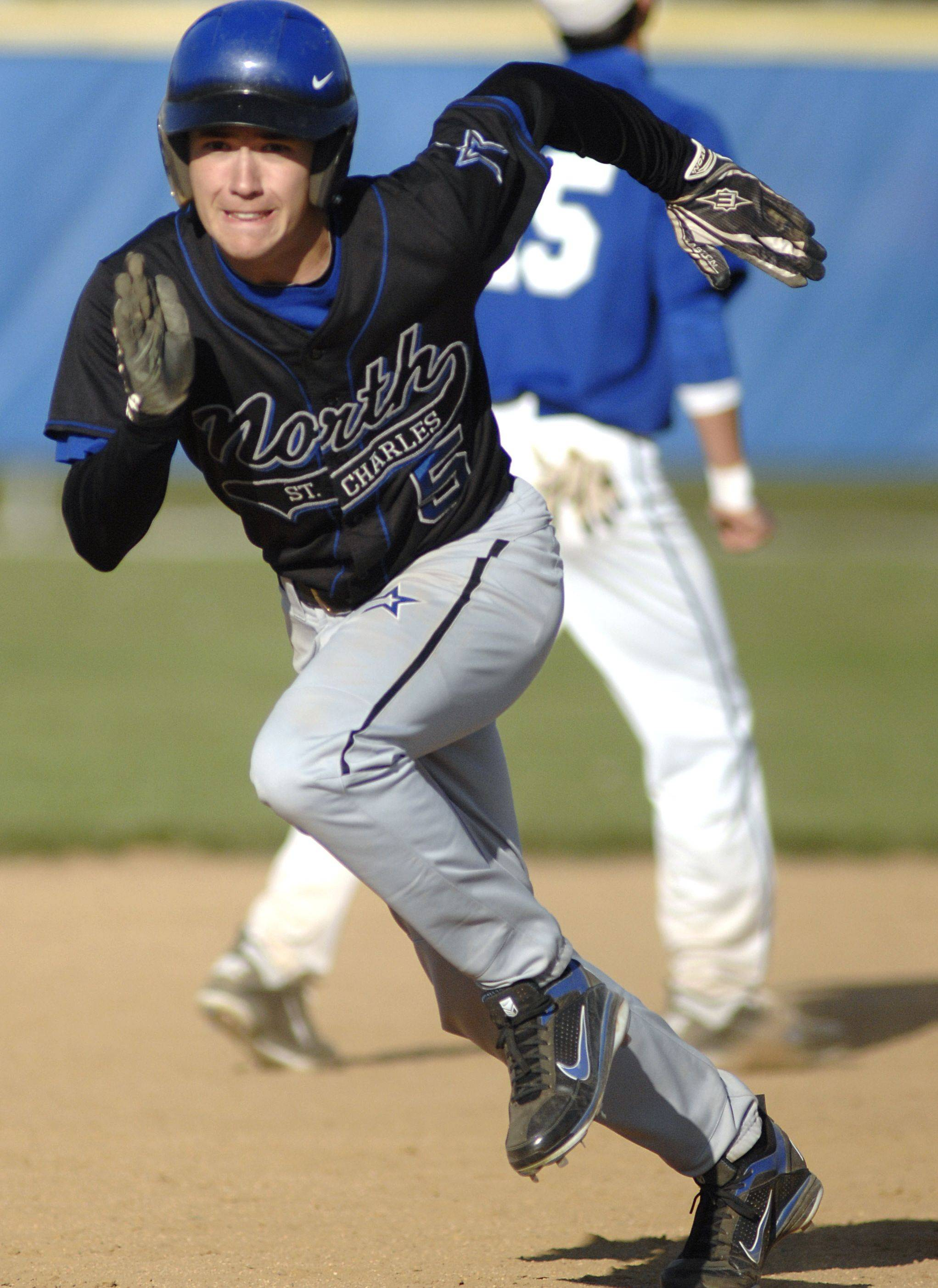 Kurt Barbeau is moving from the outfield to shortstop for St. Charles North.