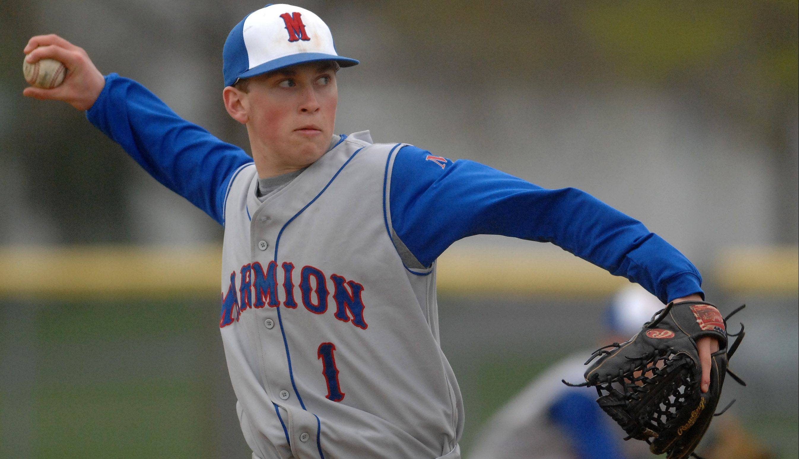 Connor Riley finished with a 6-3 record and 66 strikeouts last year for Marmion.