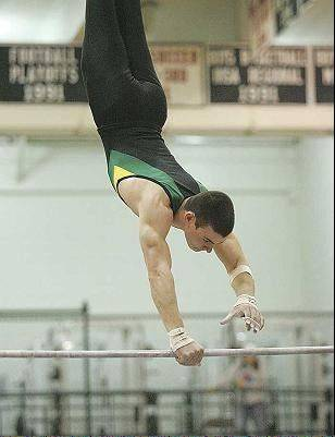 Buffalo Grove native Mike Wilner, competing here on the high bar for Stevenson High School, is on the University of Illinois men's gymnastics team and ranked No. 1 nationally on rings. He'll travel to Israel this summer to compete in the 19th Maccabiah Games.