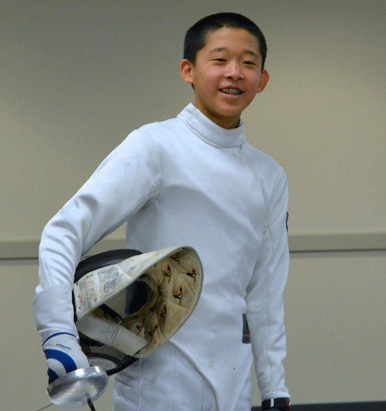 AJ Mikkelson won a bronze medal Arnold Schwarzenegger Regional Youth Circuit Fencing Classic