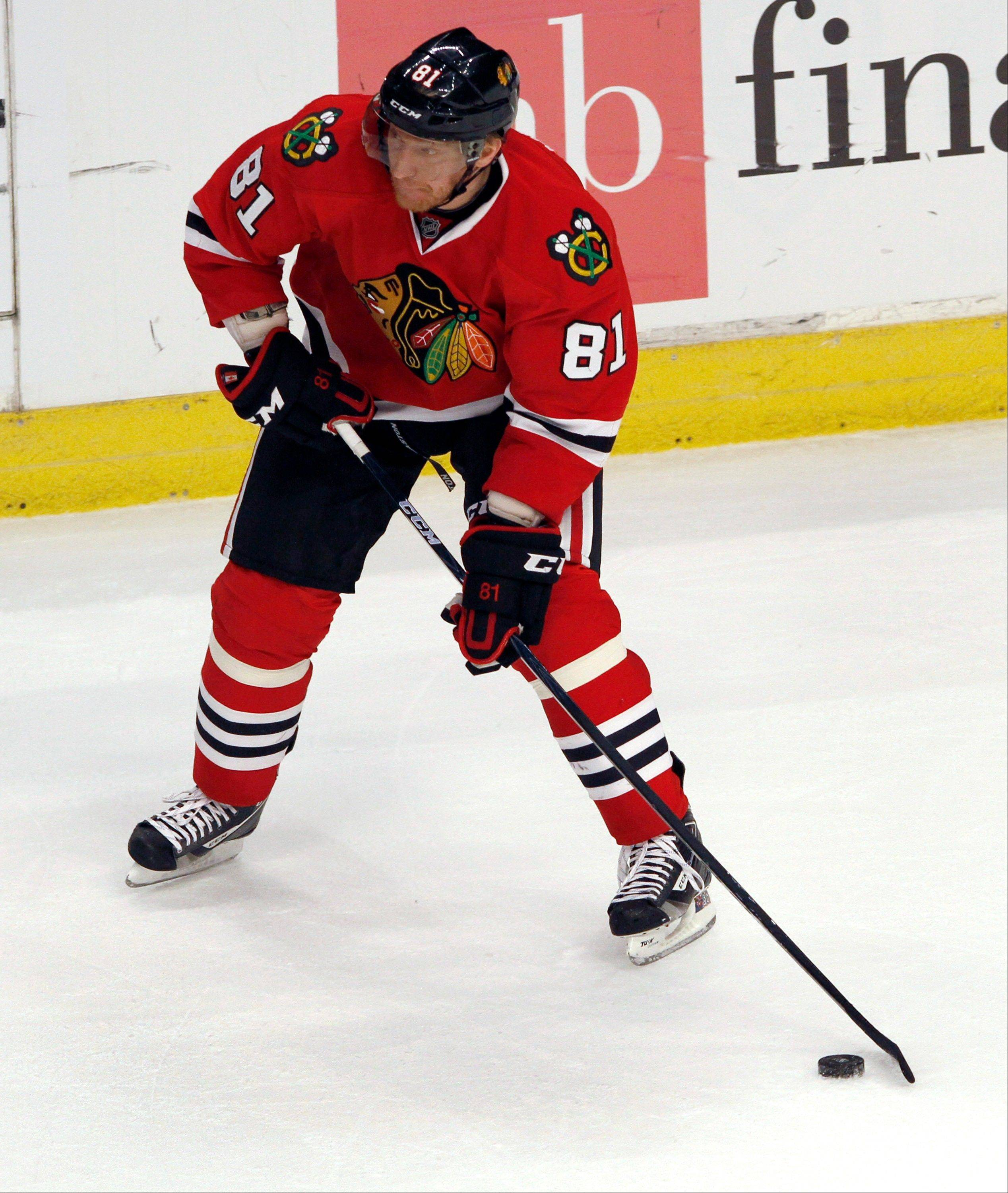 Looks like Hossa's out for Monday