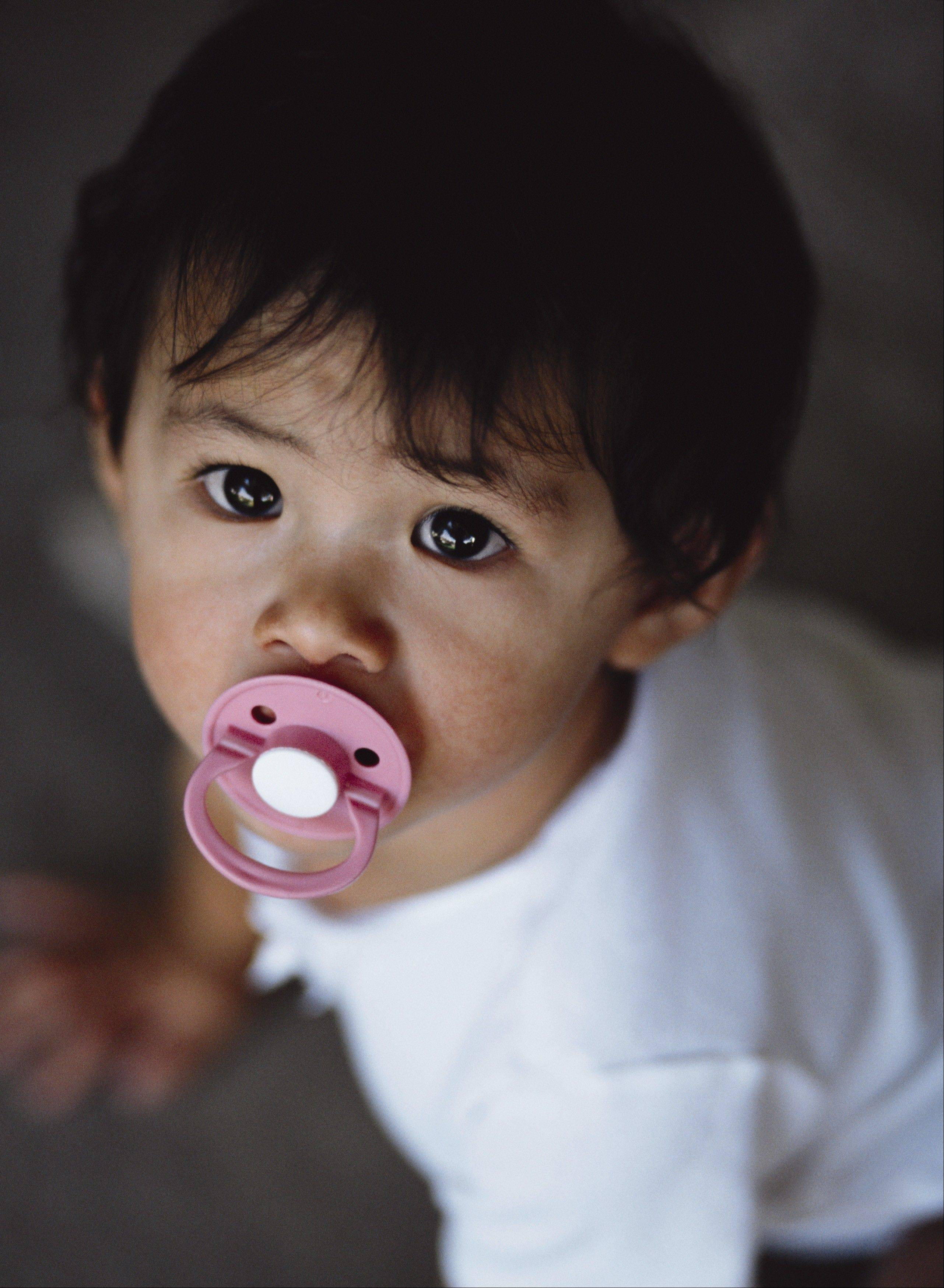 Some children use pacifiers and other transition objects to relieve stress but the attachment rarely goes beyond preschool.