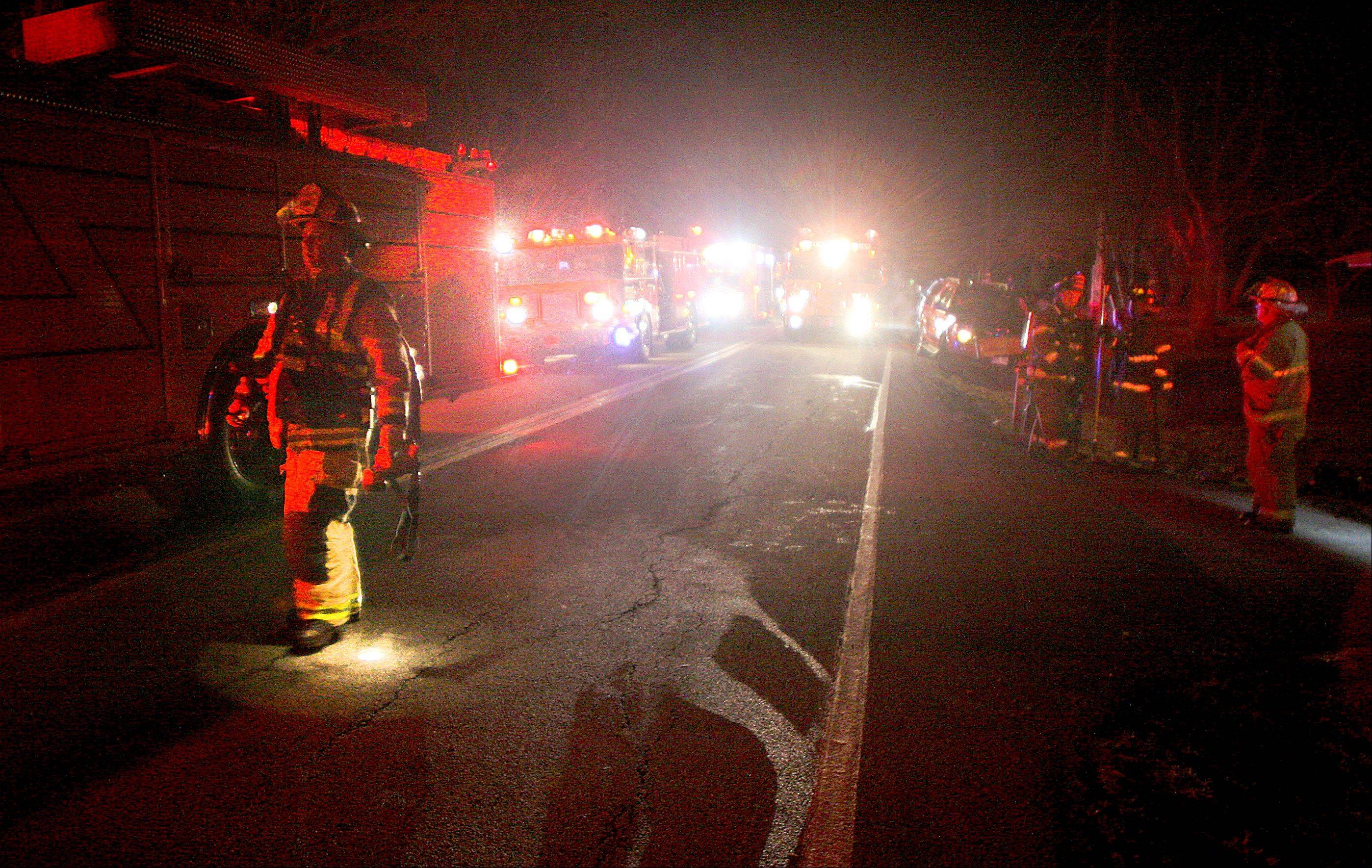 The house fire along Weber Drive was reported shortly after 7 p.m. Friday.