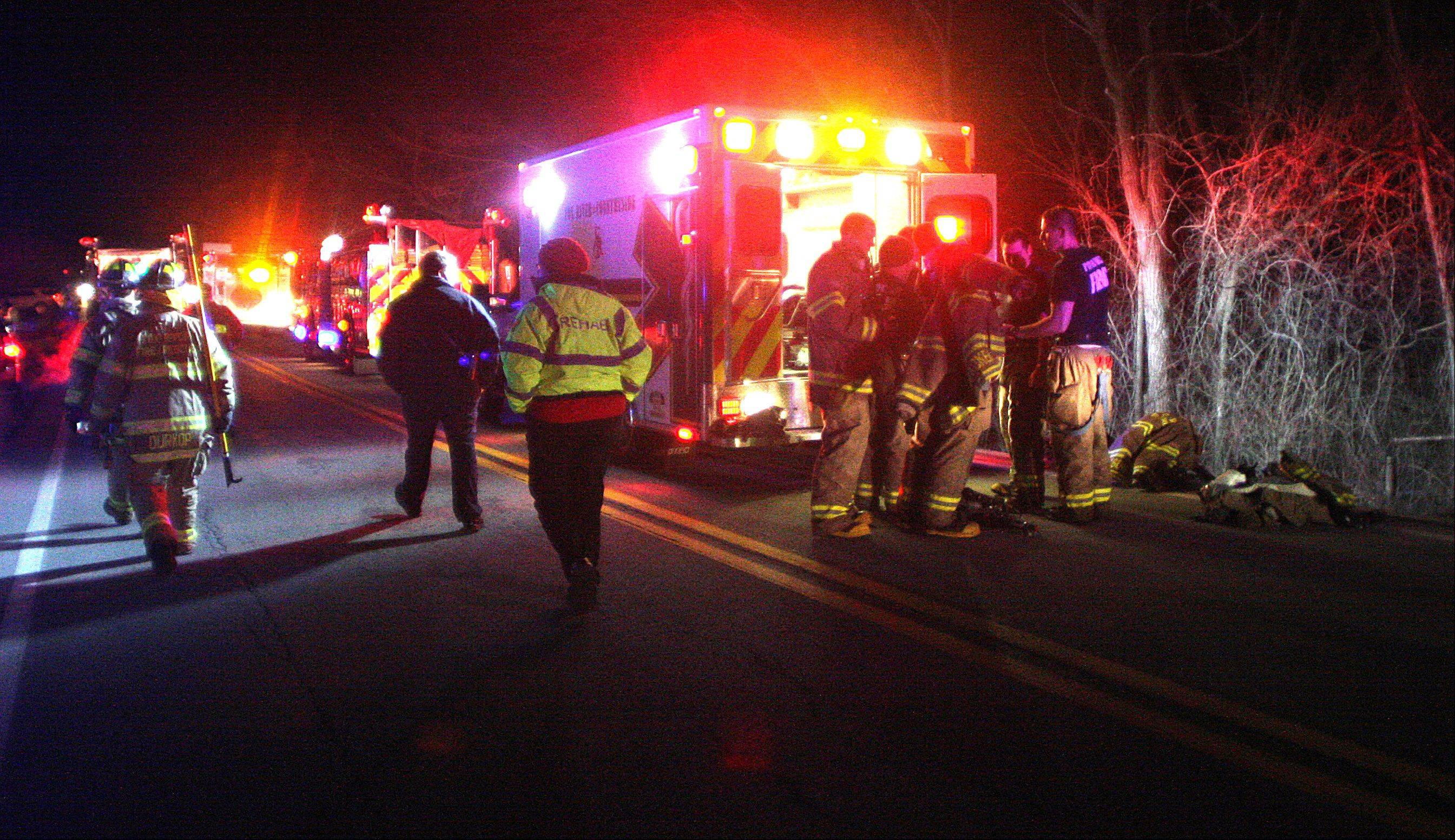 A house fire broke out along Weber Drive in the Valley View subdivision on Friday night.