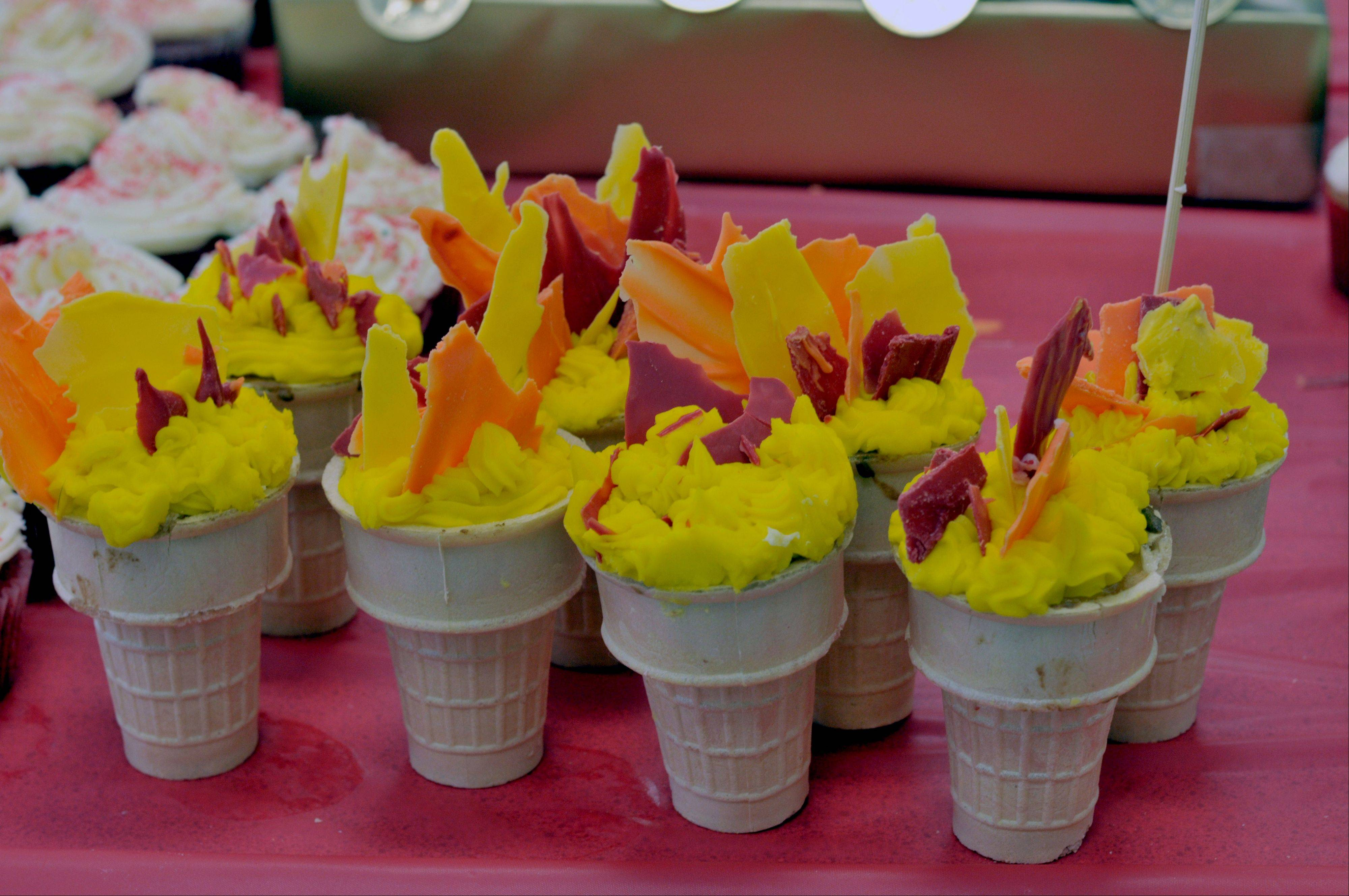 Some of the beautiful concoctions made for a recent fundraiser.