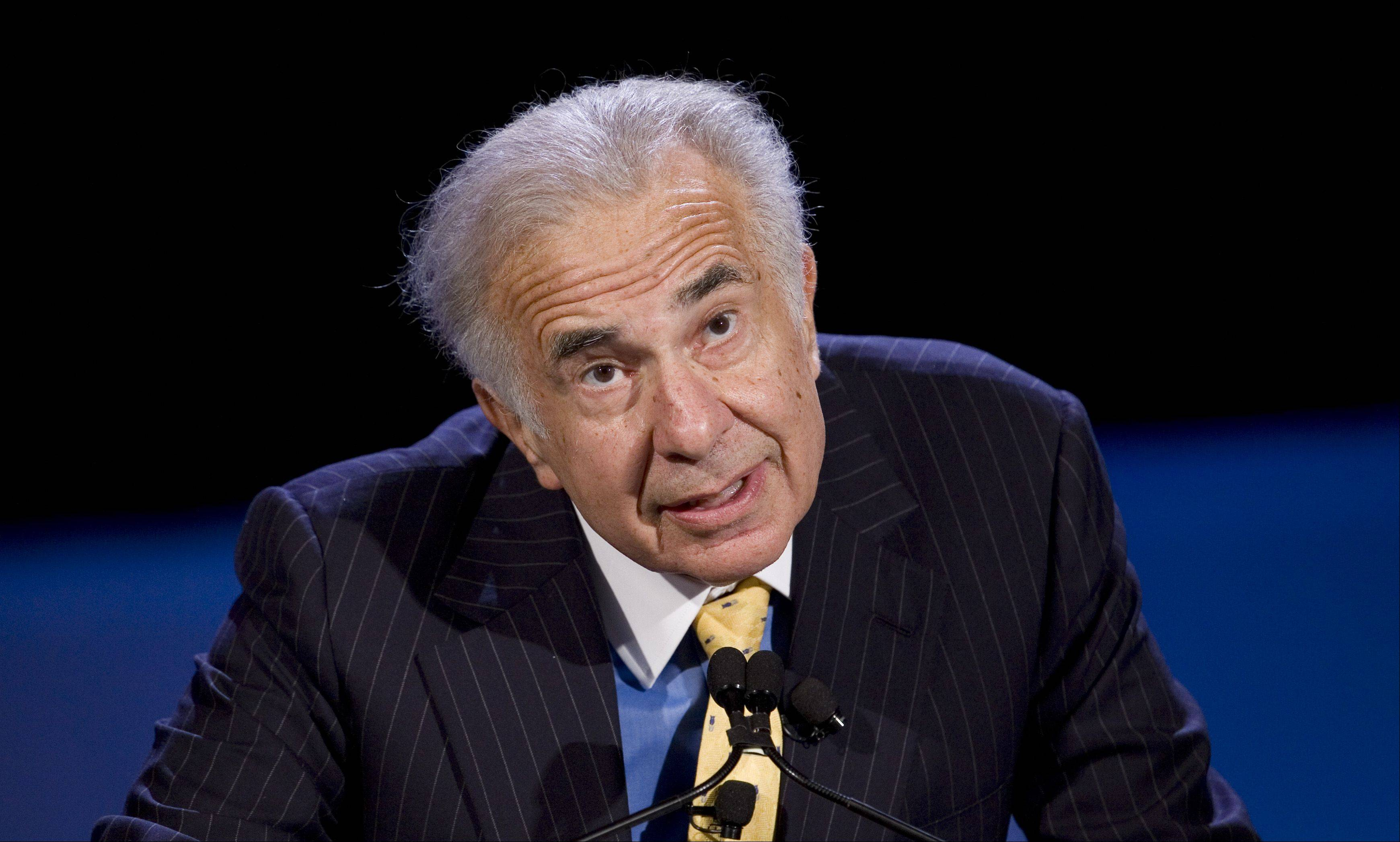 Private equity investor Carl Icahn