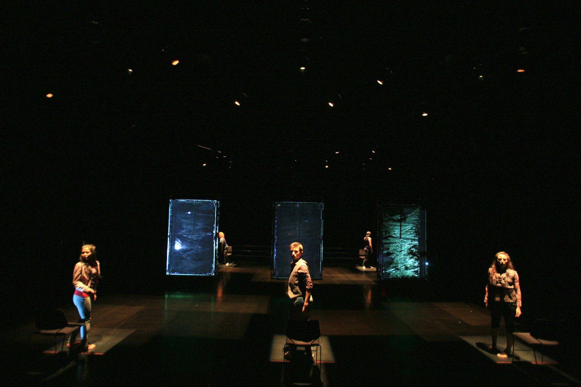 "Troika ranch's ""loopdiver completely changed the media-body relationship,"" says choreographer Dawn Stoppiello. ""I had been watching videotape of myself being looped over and over, rehearsing,"" and she started to wonder: Could she learn how to perform those endlessly repeating sections -- live?"
