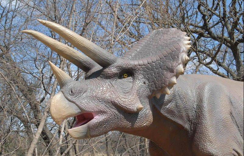 The Dinosaurs Alive! exhibit returns to Brookfield Zoo featuring 24 life-size, animatronic prehistoric creatures including the popular Triceratops.