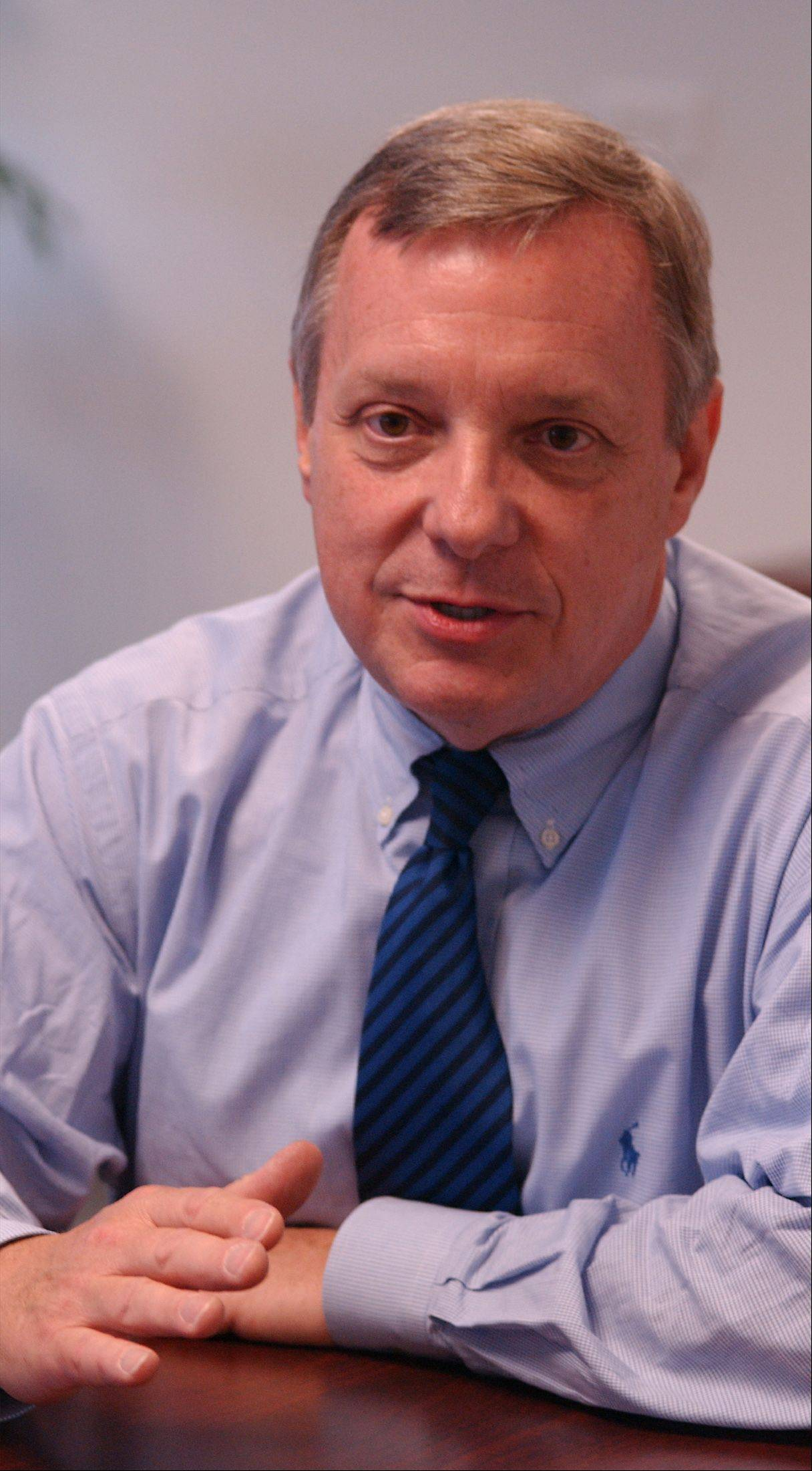 Illinois Sen. Dick Durbin is pushing a Senate immigration plan that would dramatically increase the number of high-skilled foreign workers allowed into the country and give permanent legal status to an unlimited number of students who earn graduate degrees from U.S. universities in science, technology, engineering or math, according to people familiar with the negotiations.