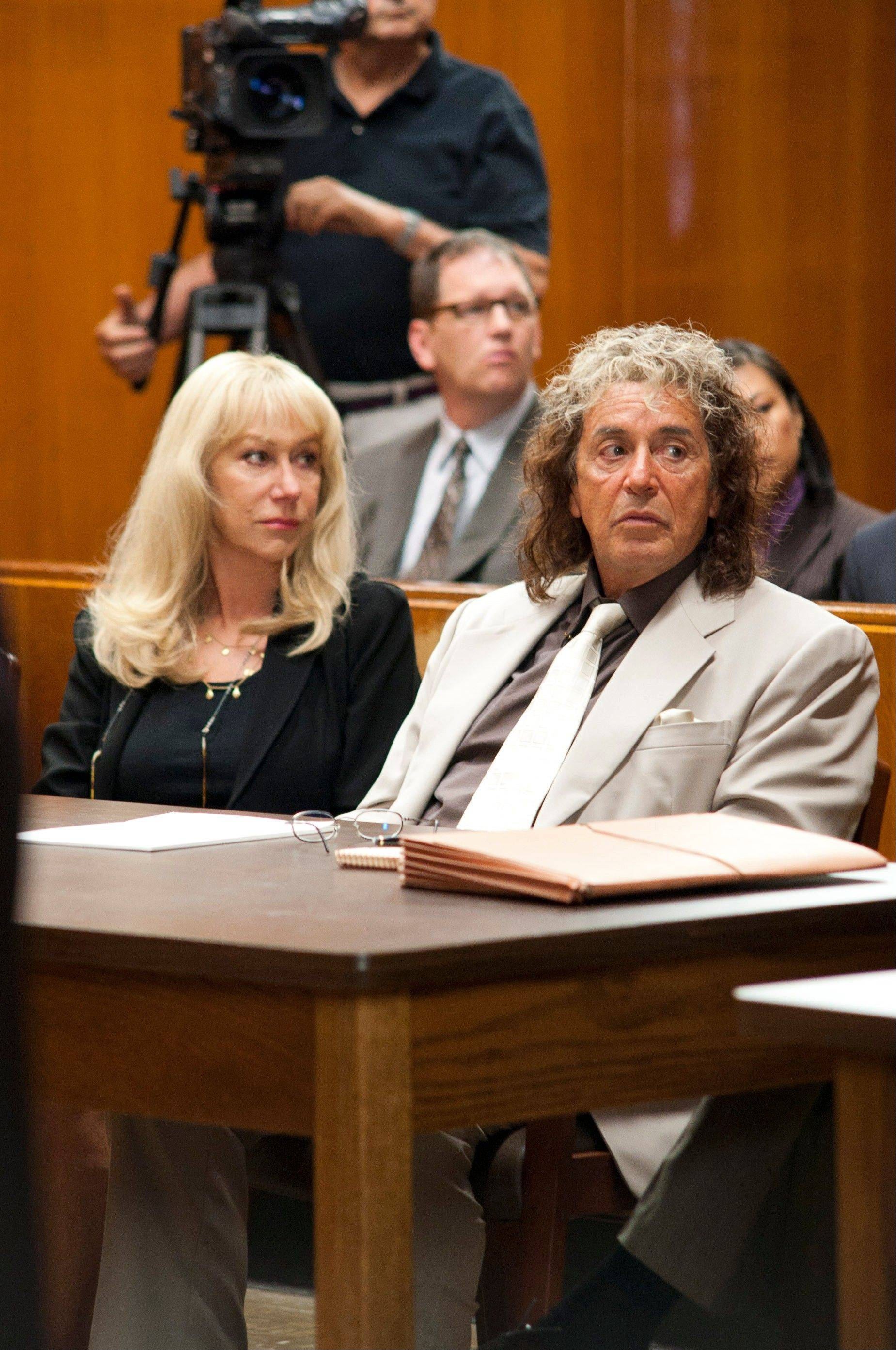 "Helen Mirren plays hotshot lawyer Linda Kenney Baden and Al Pacino portrays Phil Spector in HBO's ""Phil Spector,"" which premieres at 8 p.m. Sunday, March 24."