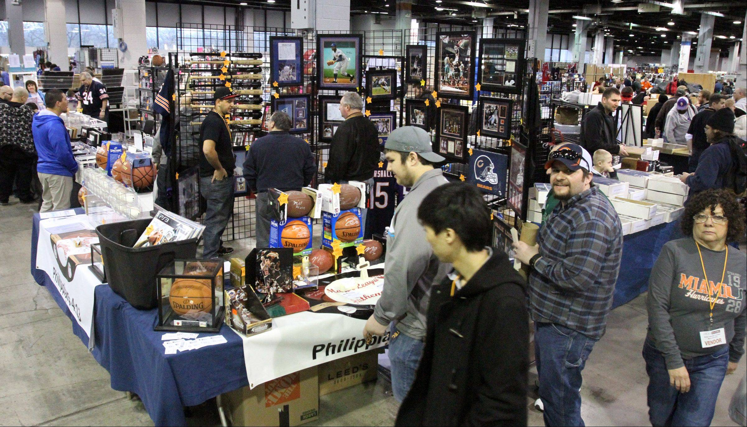 Thousands of sports fans turned out Sunday for the 46th annual Sun-Times Sports Collectibles Show at the Donald E. Stevens Convention Center in Rosemont.