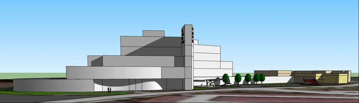 Preliminary drawing of the $131 million Vista Medical Center proposed in Lindenhurst.
