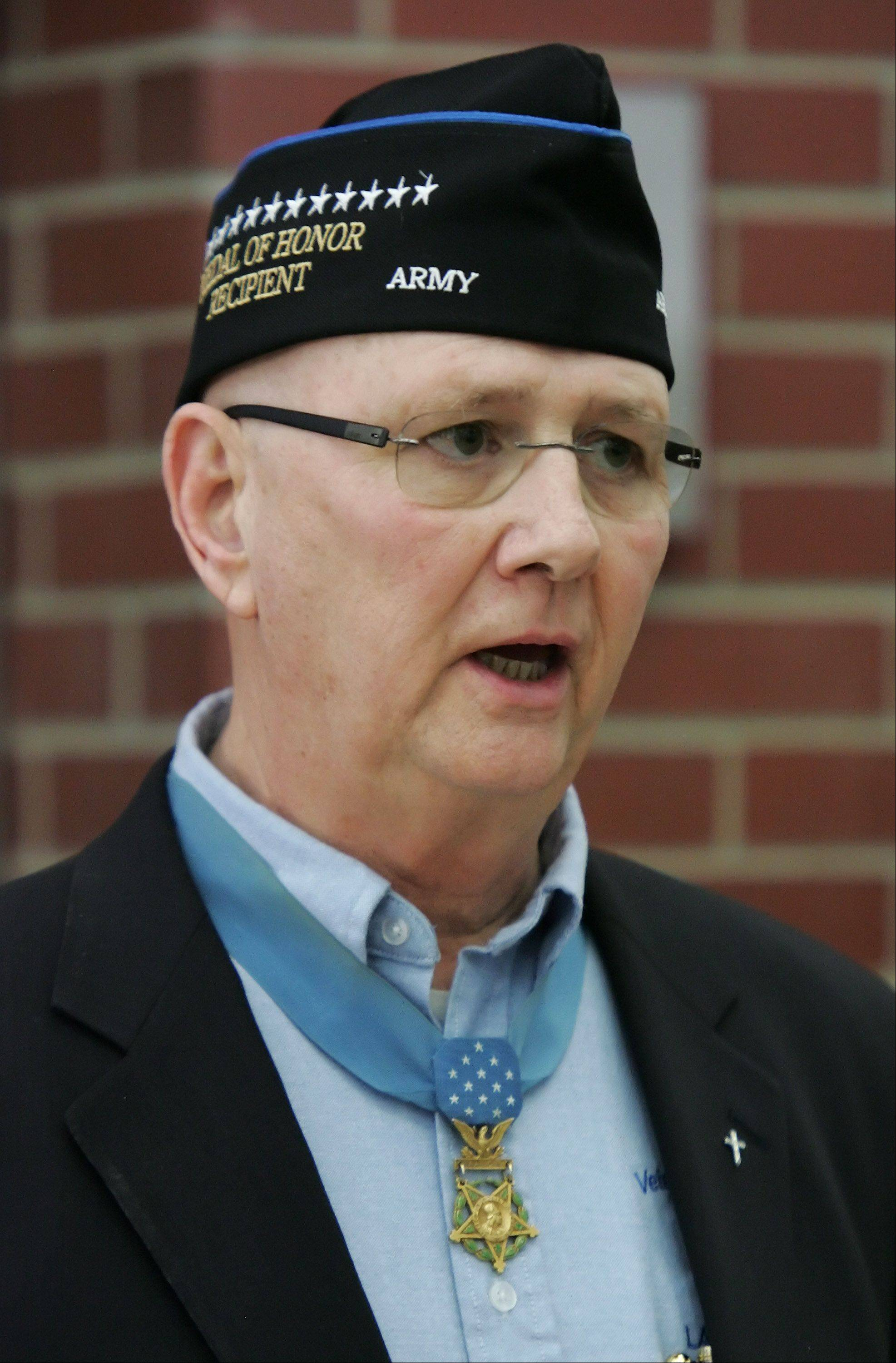 Allen Lynch of Gurnee received the Medal of Honor for his heroics during the Vietnam War.