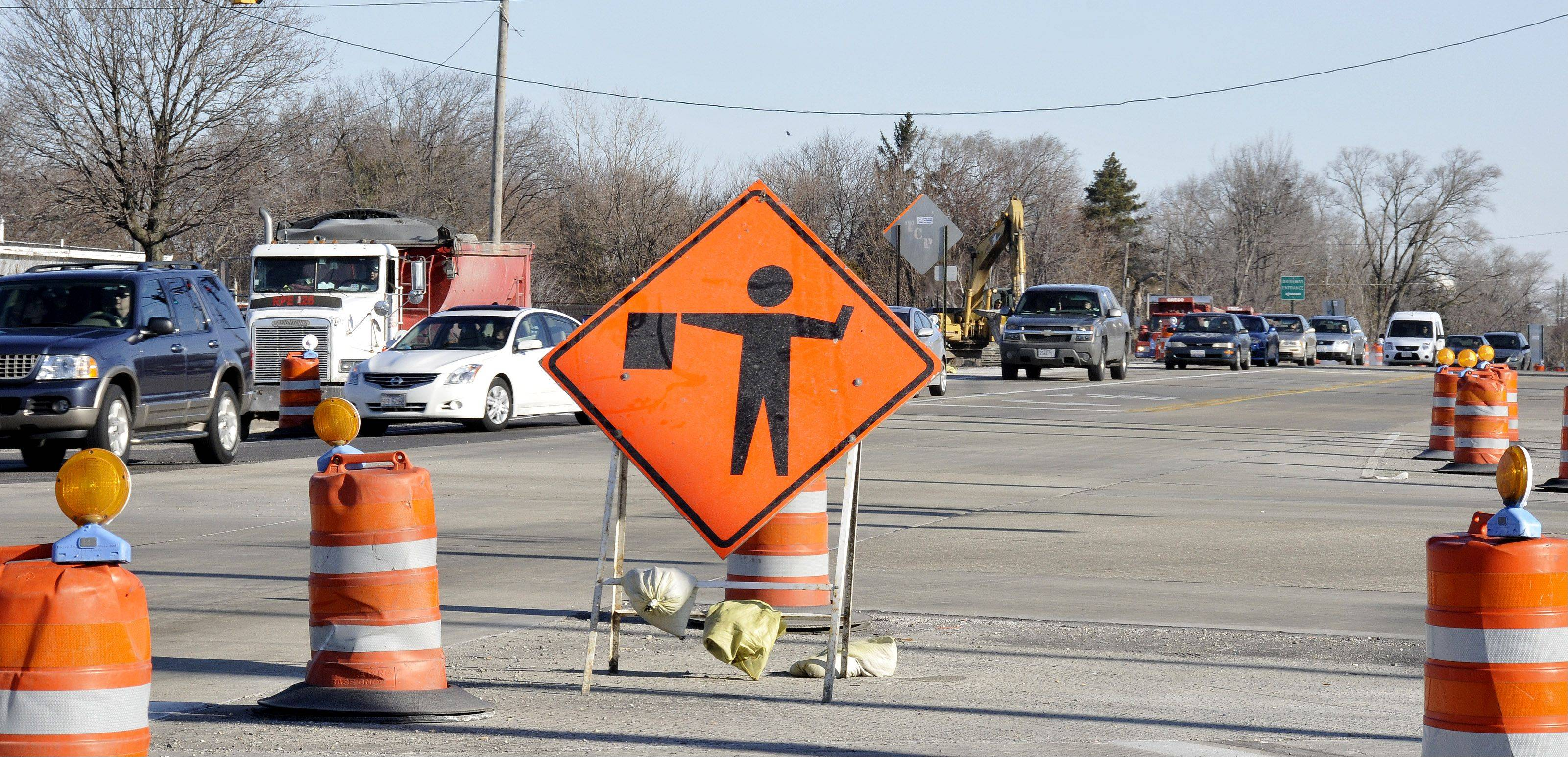 It may look like nothing's happening, but road work in the vicinity of Army Trail Road and Route 53 is ongoing and will finish this year, IDOT says.